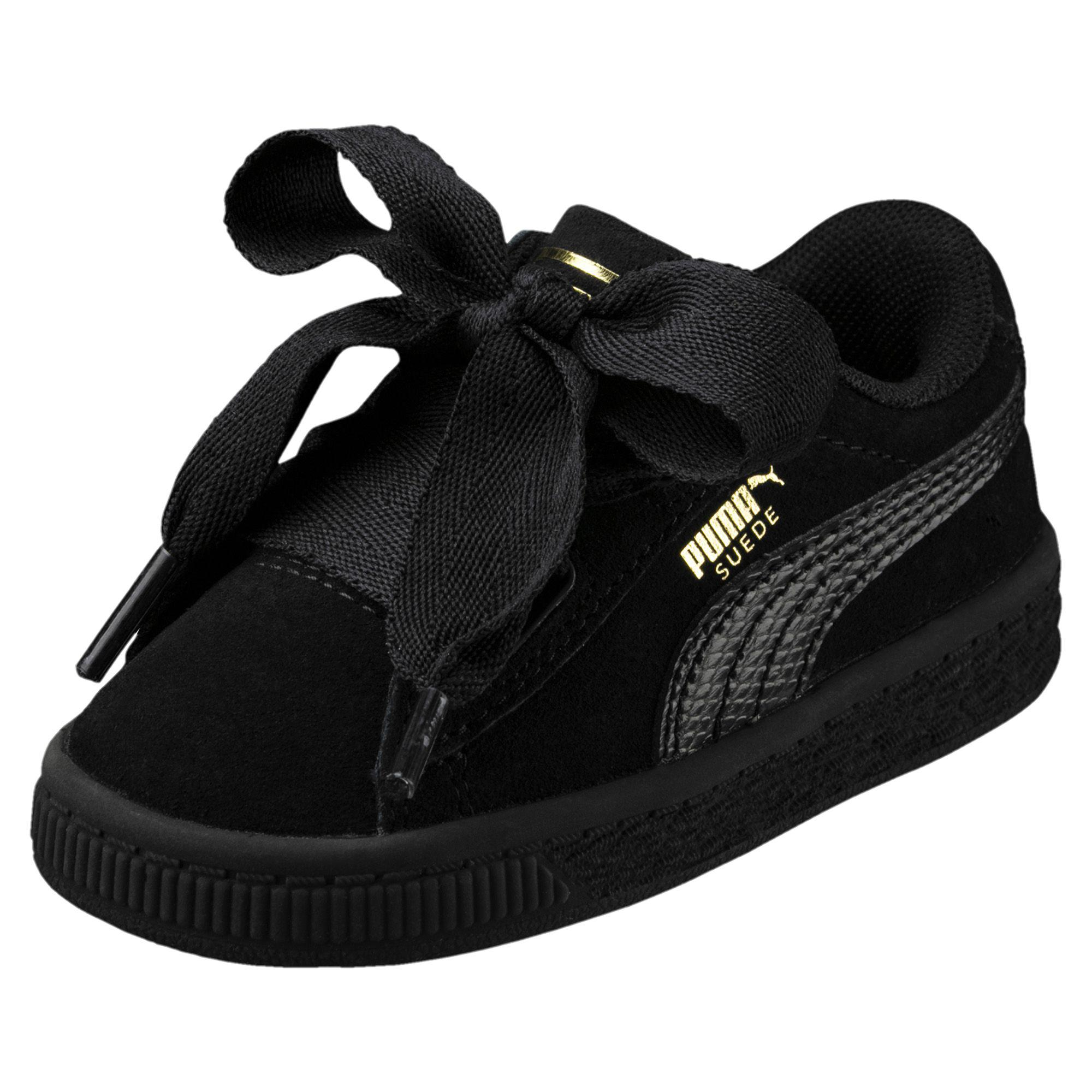 27310a90e269 Lyst - PUMA Suede Heart Snake Girls  Sneakers in Black