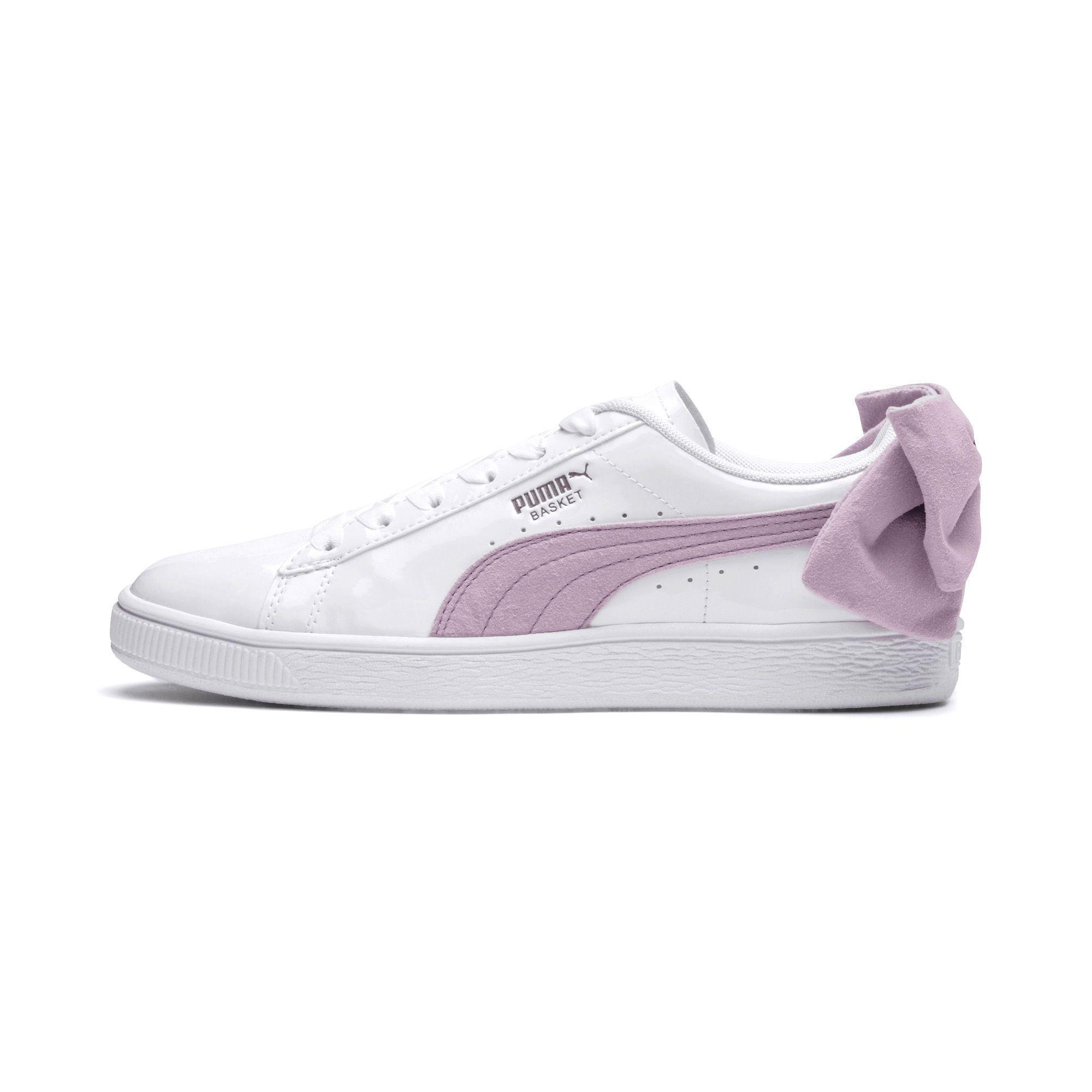 f12e27216b6 Lyst - PUMA Basket Suede Bow Women s Sneakers