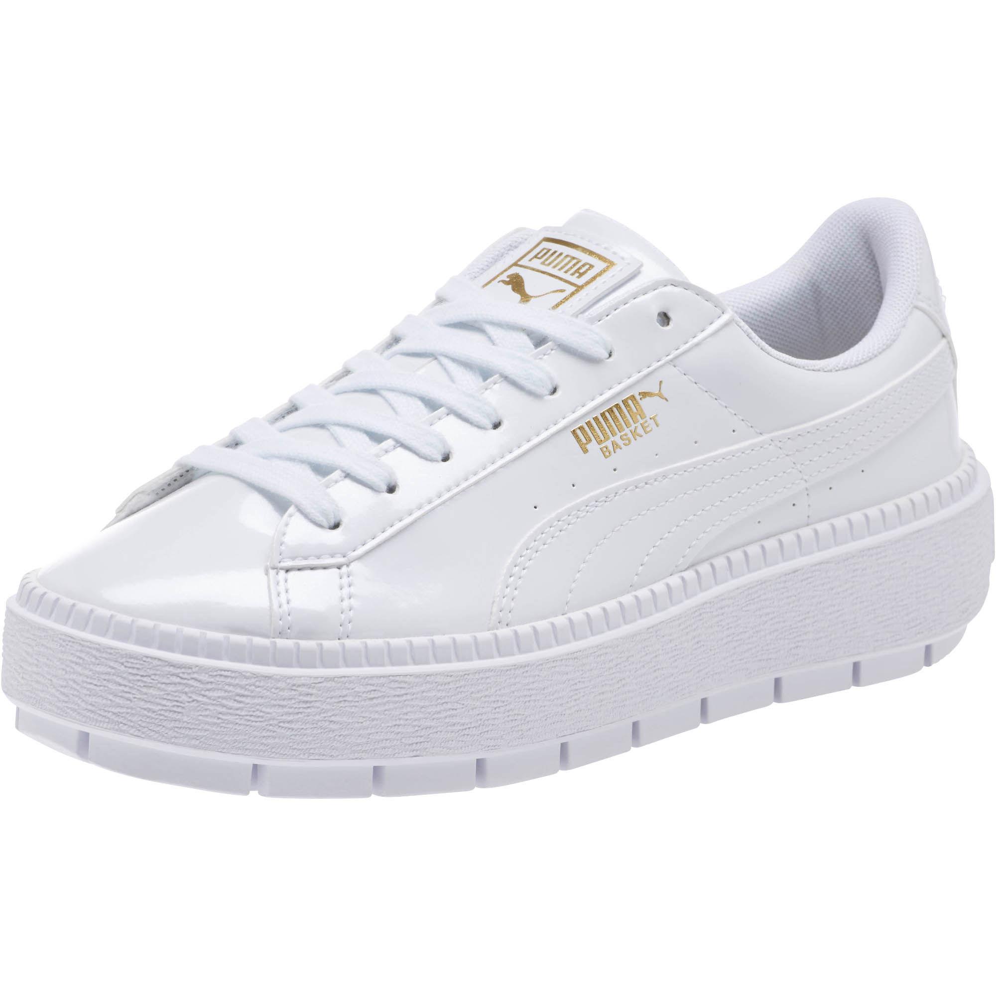 7b34fc804f5374 Lyst - PUMA Basket Platform Trace P Women s Sneakers in White
