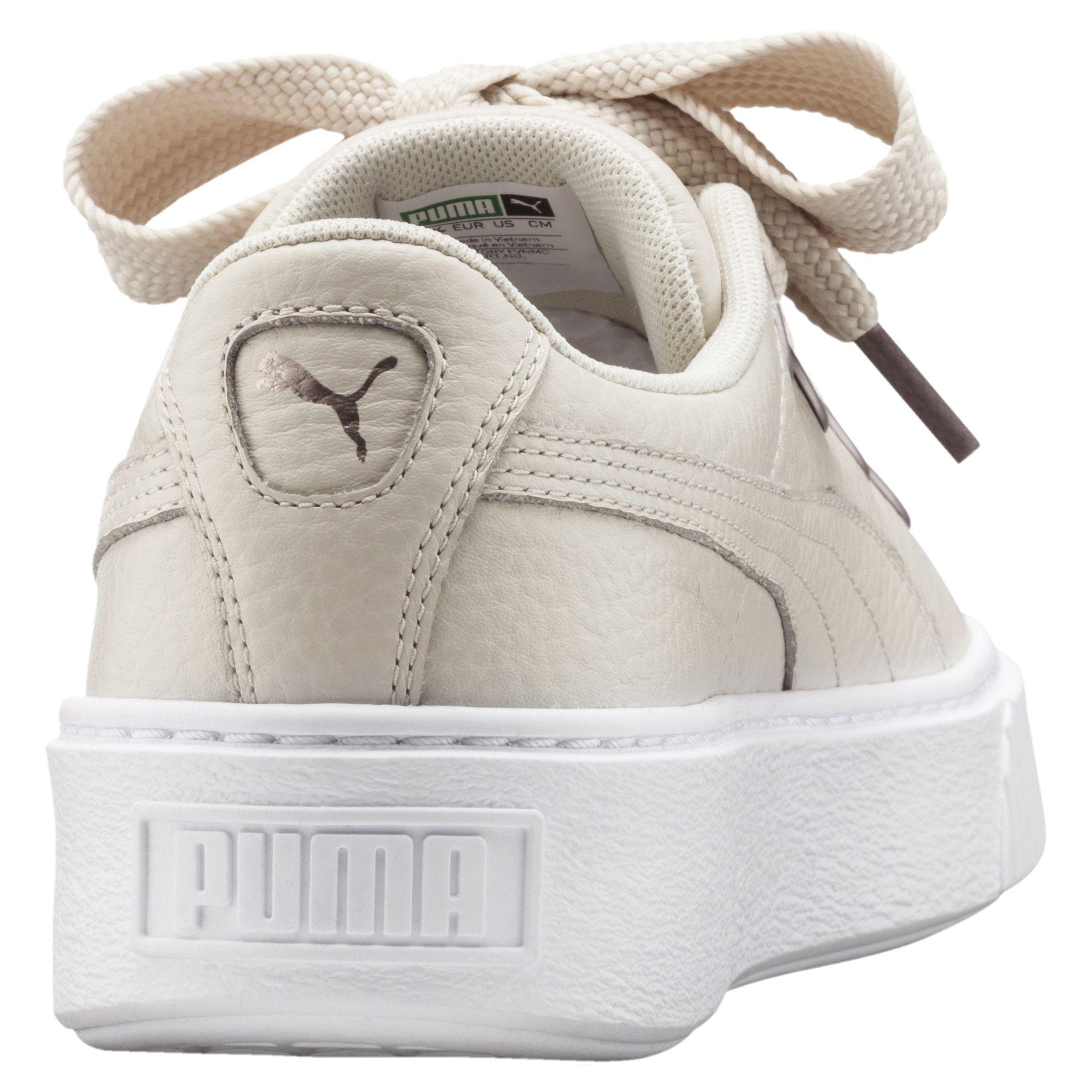 a38fdf033b12f6 Lyst - PUMA Platform Kiss Leather Women s Sneakers