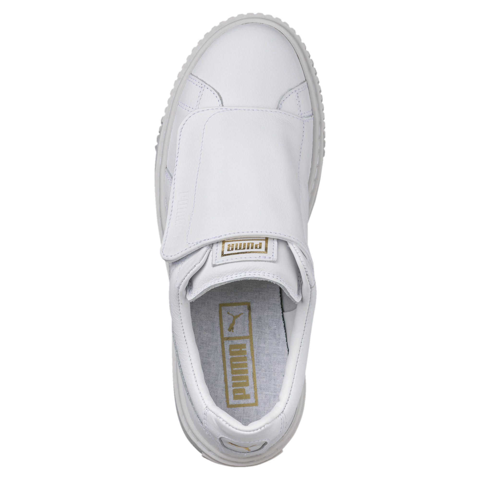 e37547d58f756e Lyst - PUMA Basket Platform Big Strap Women s Sneakers in White