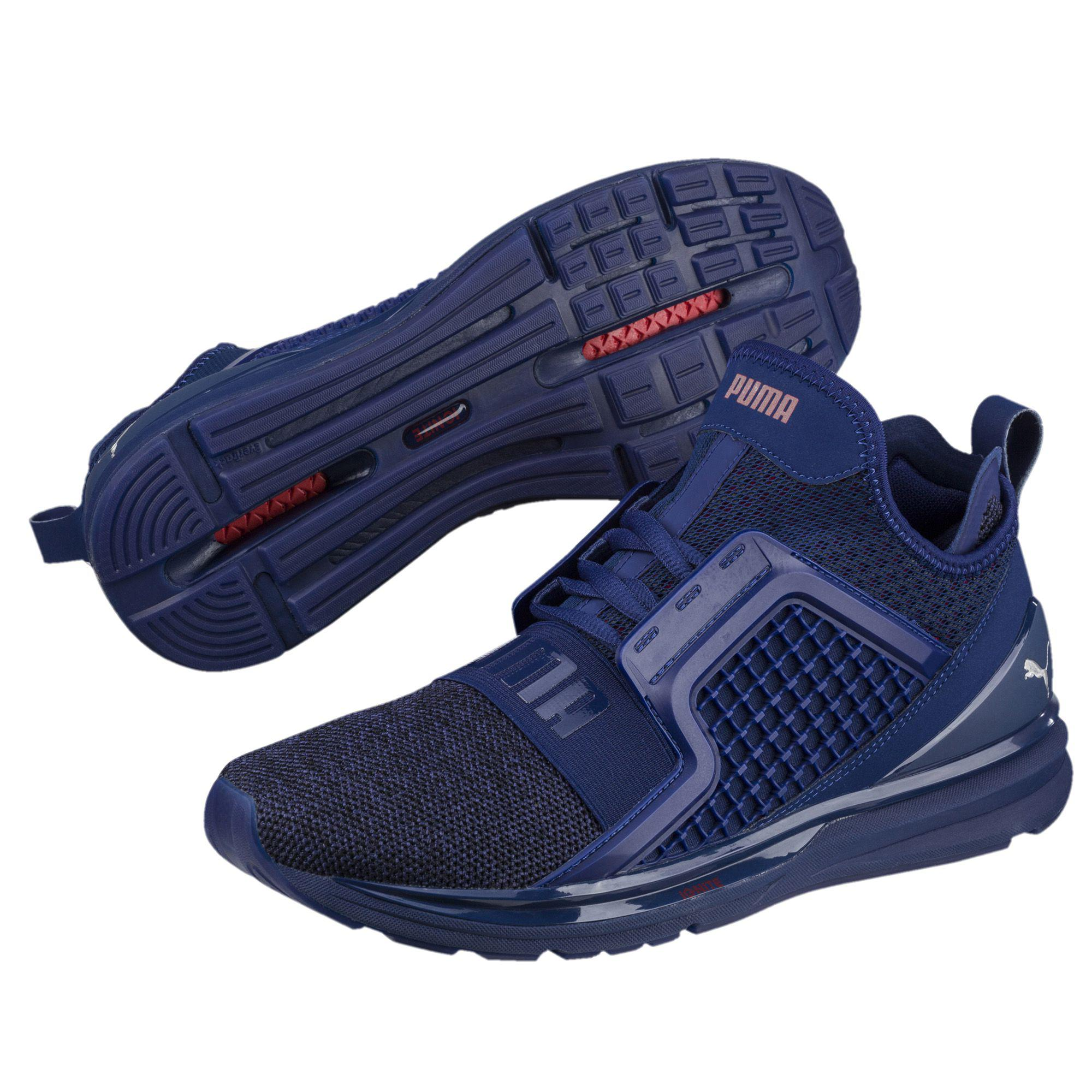 0f5029faff3 Lyst - PUMA Ignite Limitless Knit Men s Training Shoes in Blue for Men