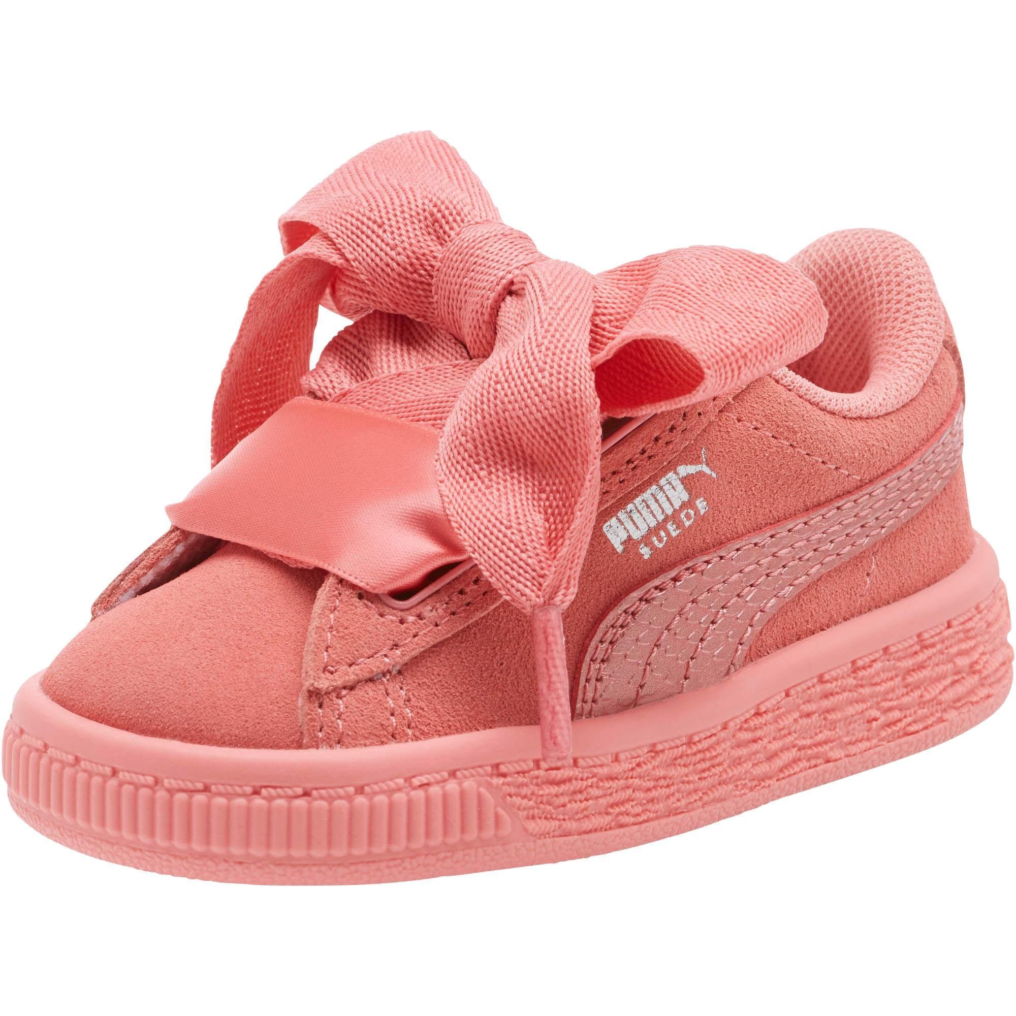 68ae2a1be62 Lyst - PUMA Suede Heart Preschool Sneakers in Pink