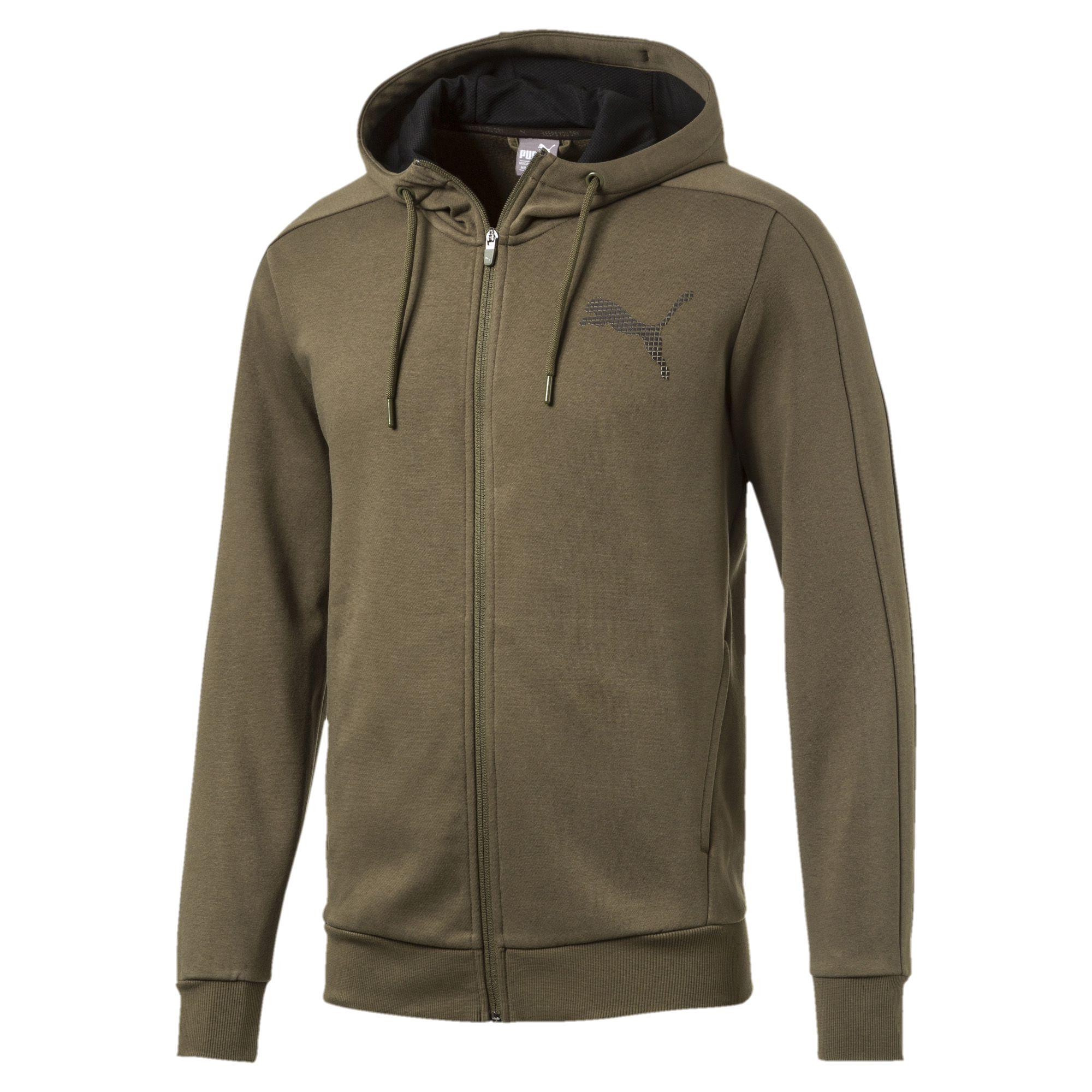Cheap Puma P48 Core Hoodie Olive Night For Men Sale Online