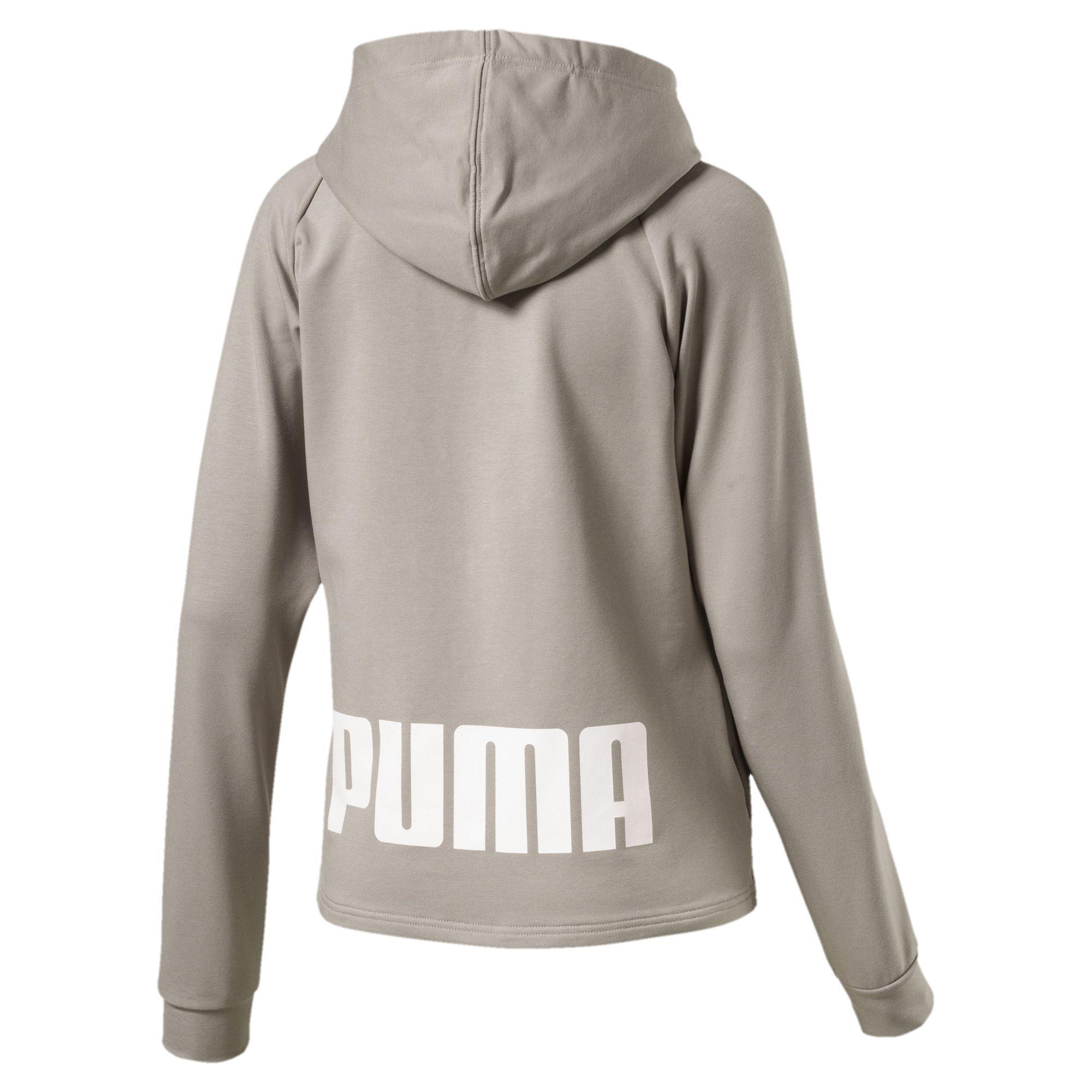878358c75345 Lyst - PUMA Training Urban Sports Women s Full Zip Hoodie in Gray