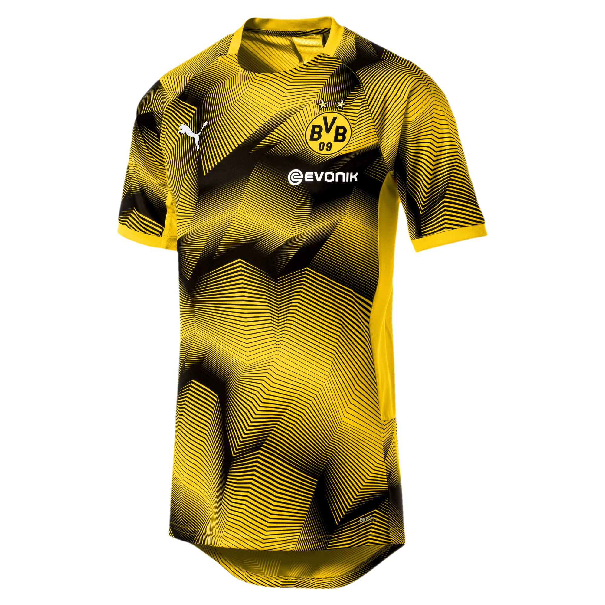e4a64317 PUMA Bvb Stadium Graphic Jersey in Yellow for Men - Lyst
