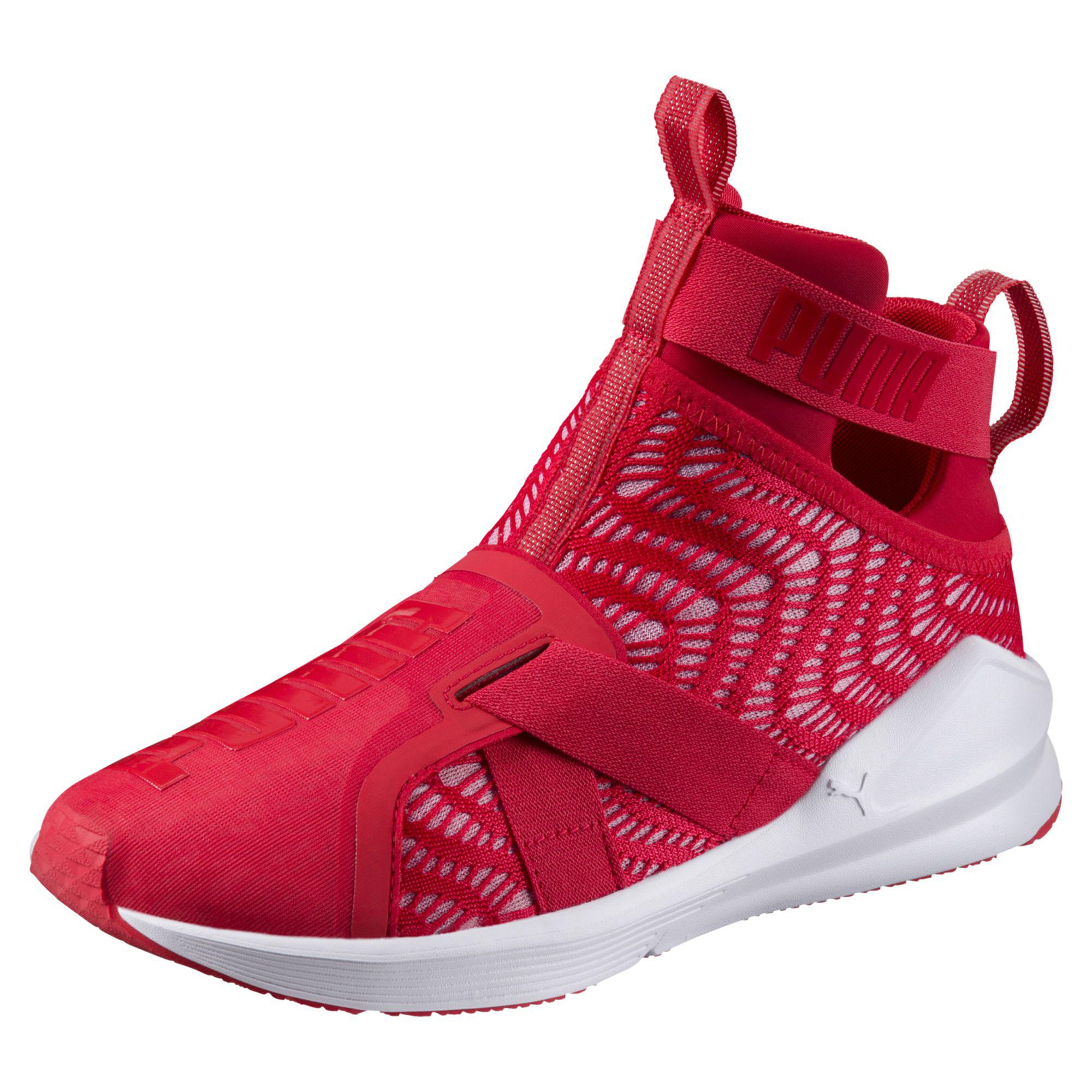 5a76a6fda9b Lyst - PUMA Fierce Strap Swirl Women s Training Shoes in Red
