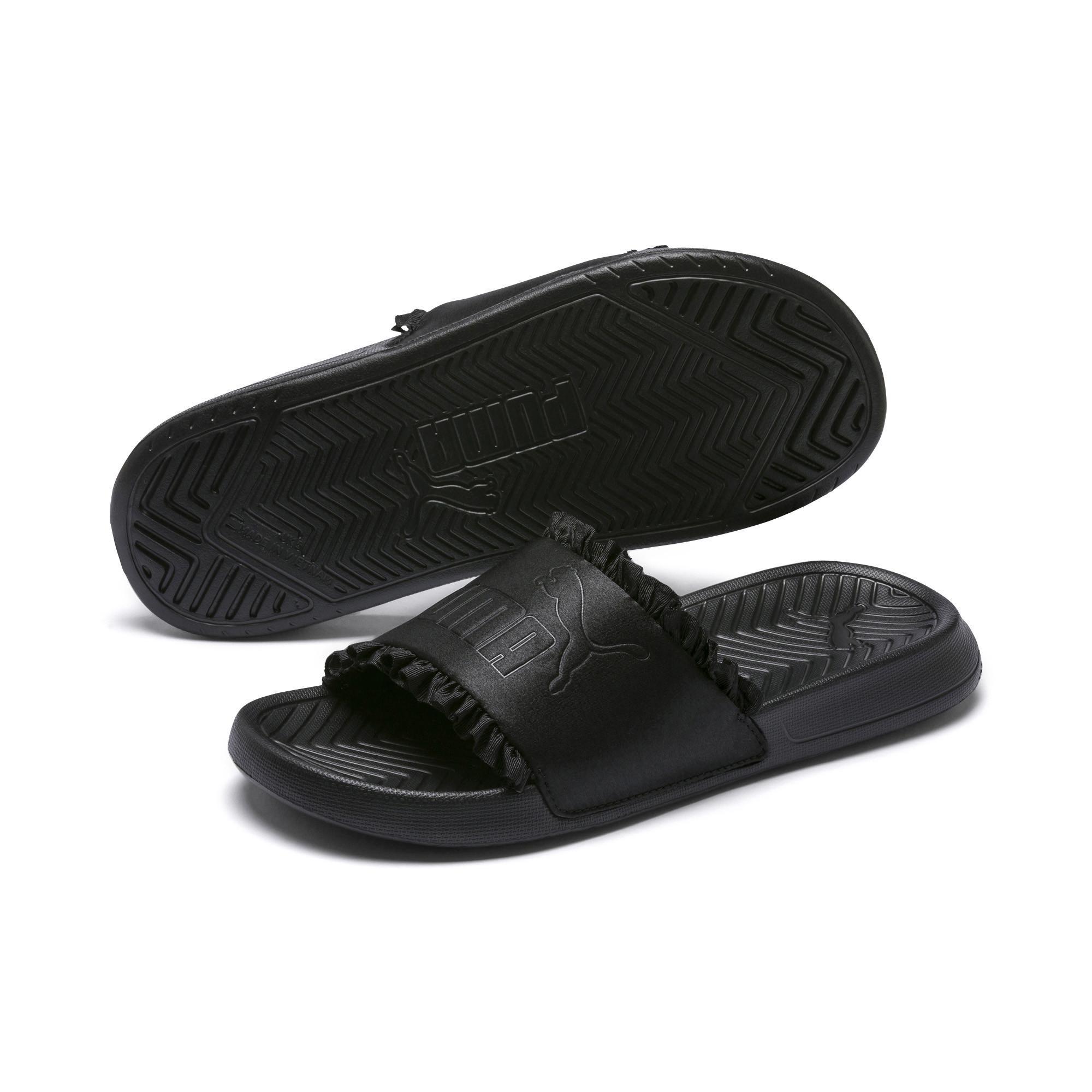 cf72b71ef6c9 PUMA - Black Popcat Silk Women s Slide Sandals - Lyst. View fullscreen