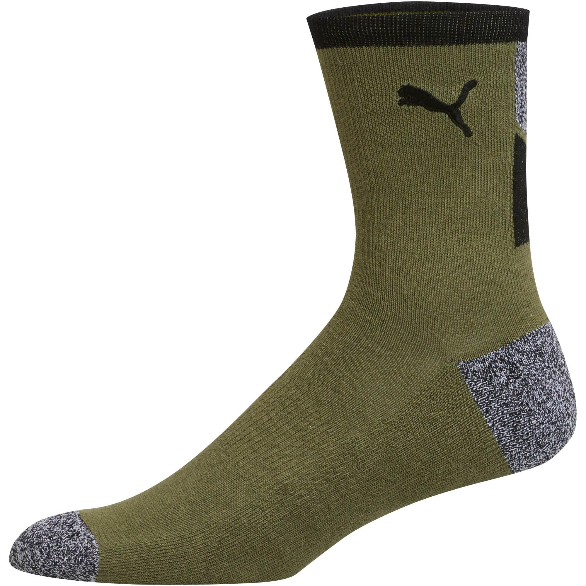 b6a4bed4b PUMA 1 2 Terry Men s Low Crew Socks  2 Pack  in Black for Men - Lyst