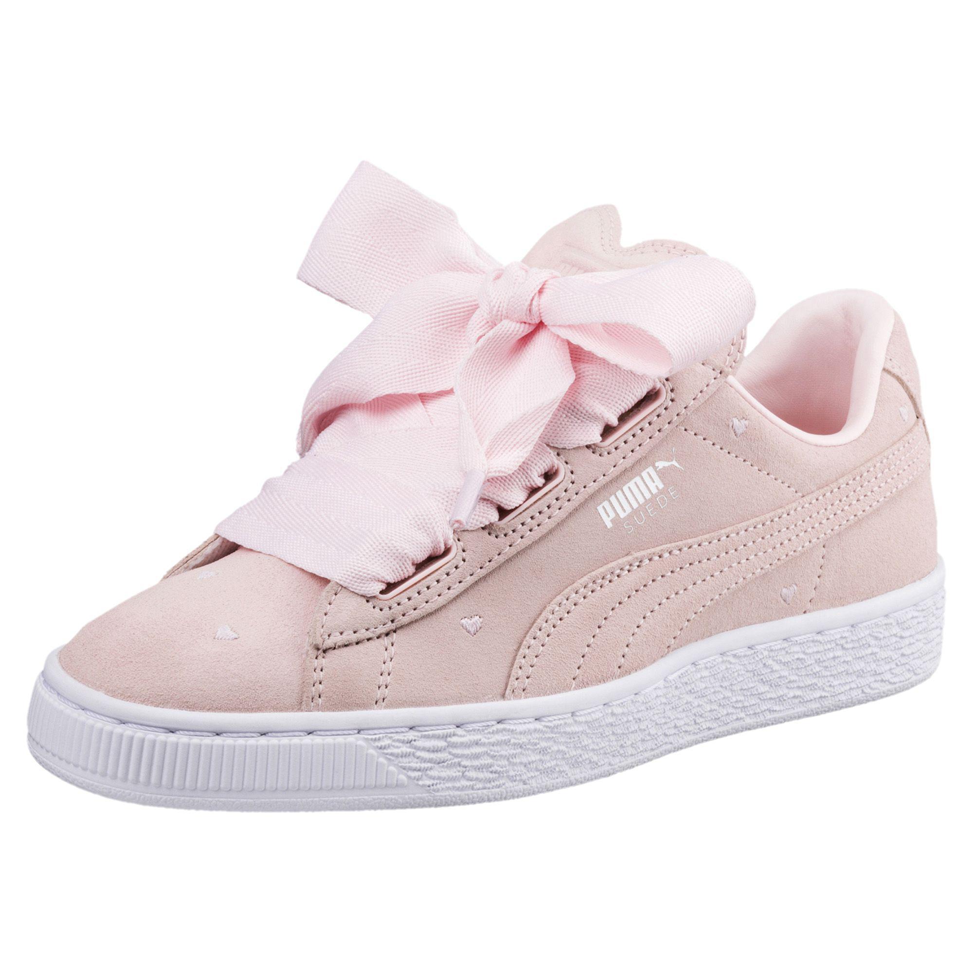 Lyst - PUMA Suede Heart Valentine Jr Sneakers in Pink 94533569d