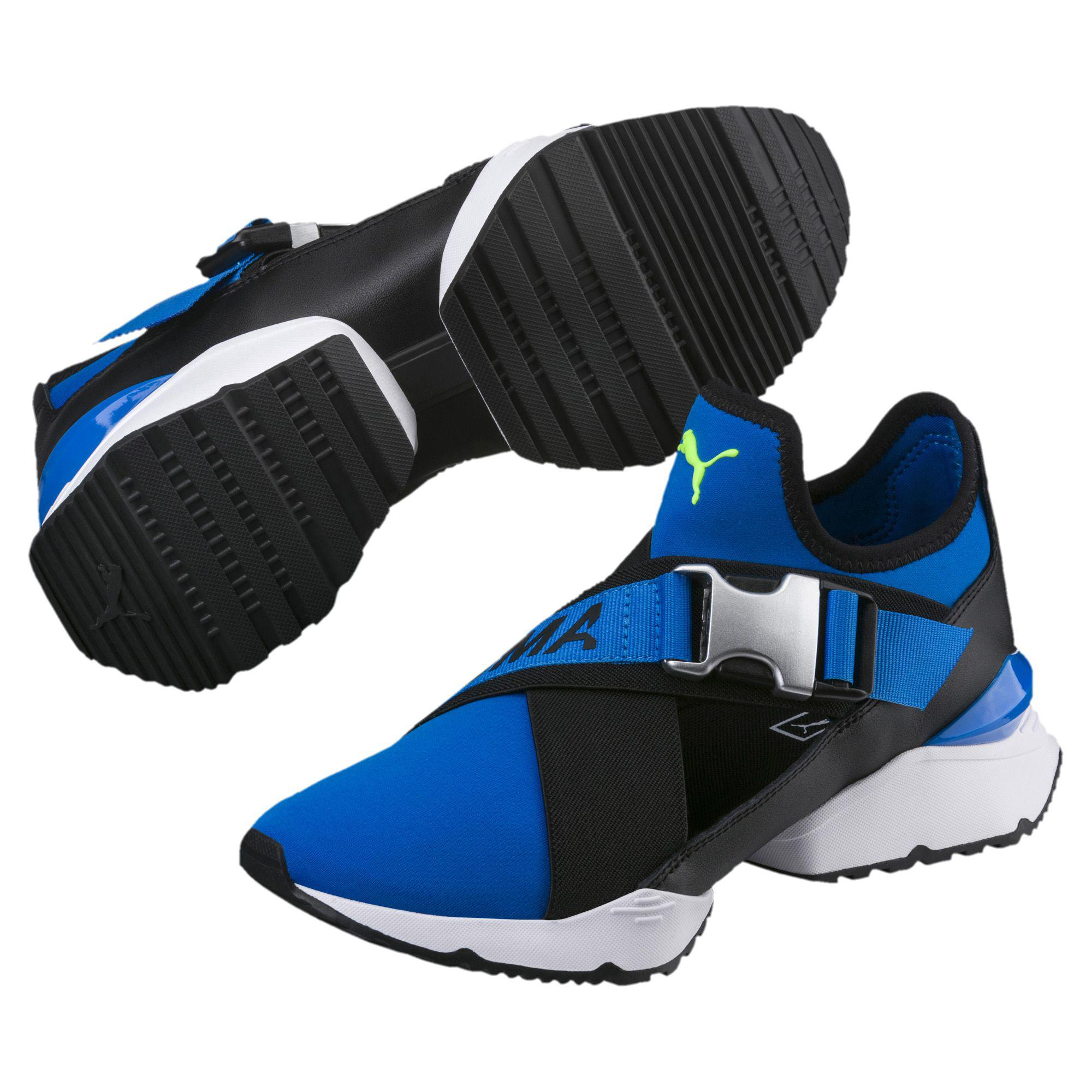 401ae9b8a54d Puma Cut Sneakers View Fullscreen Lyst Muse Out Women s Blue xxrzE1wqO
