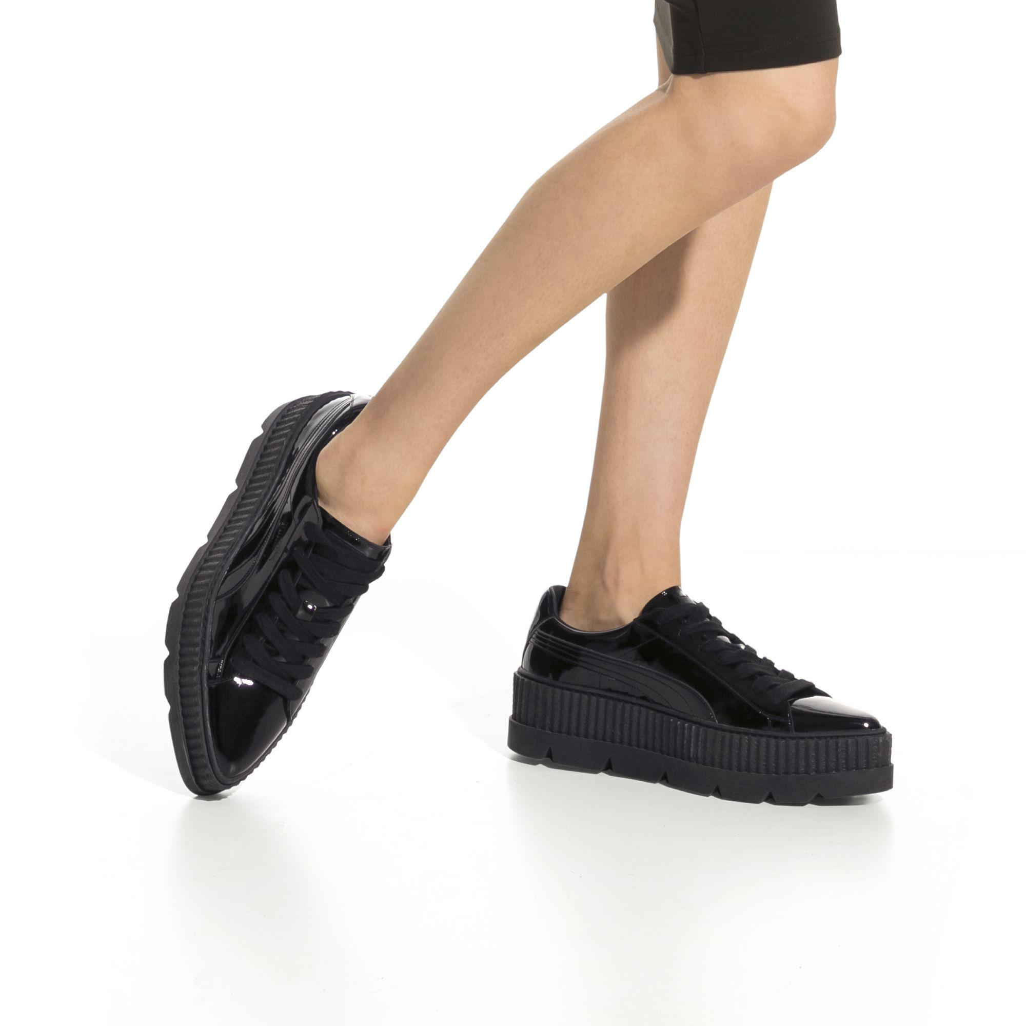 b5c8fb314001 Lyst - PUMA Fenty Women s Pointy Creeper Patent in Black