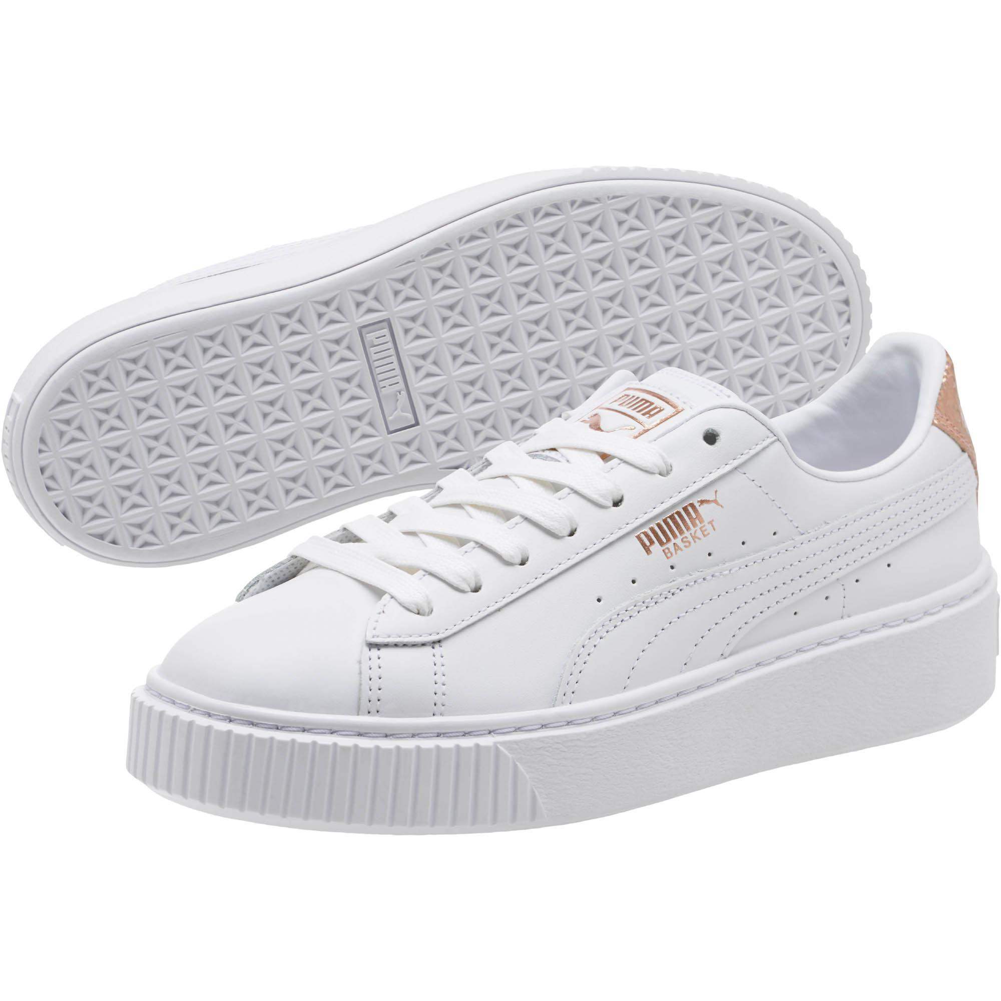 62a463bf285a Lyst - PUMA Basket Platform Rg Women s Sneakers in White