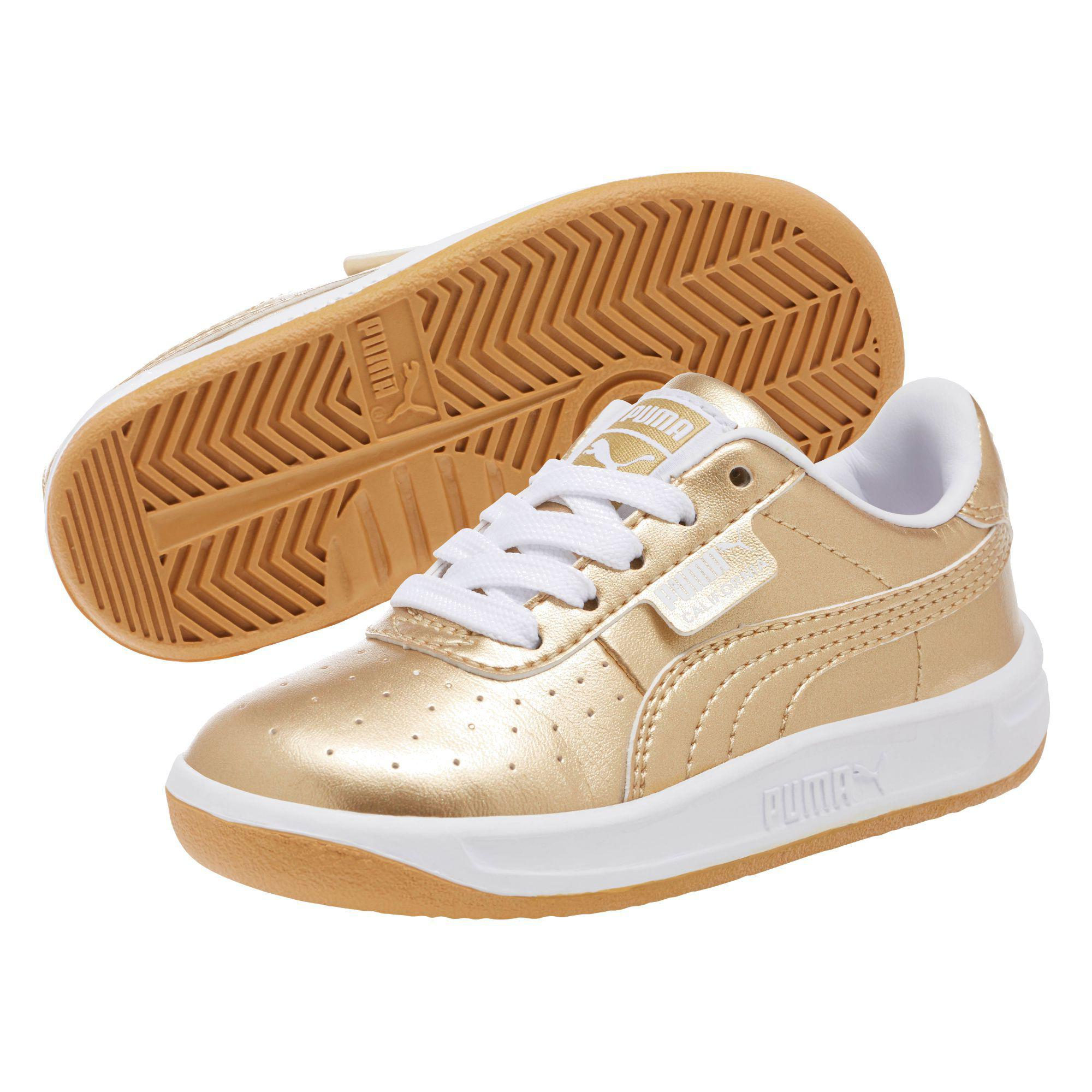 4fb837d4a0a65a Lyst - PUMA California Metallic Infant Sneakers in Metallic