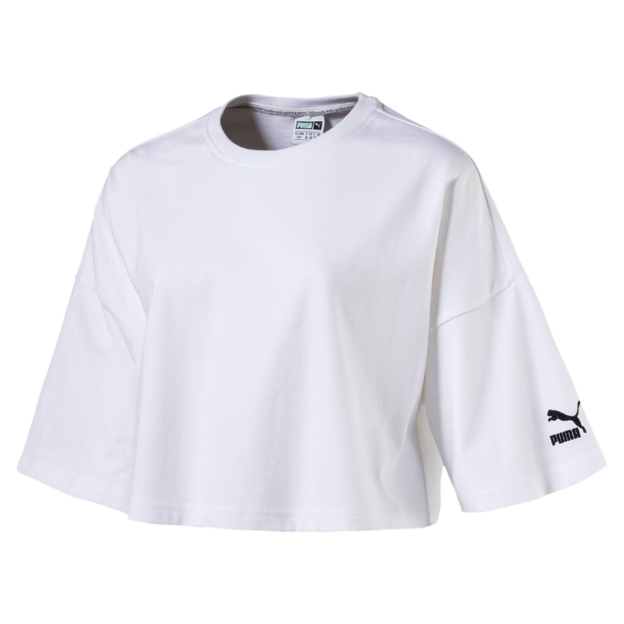 edd57d192448cc Lyst - PUMA Archive Women s Xtreme Cropped Top in White