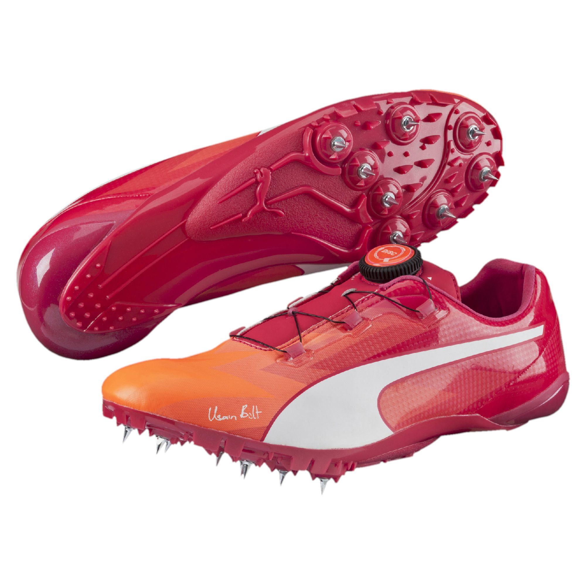 Lyst - PUMA Bolt Evospeed Disc Sprint Track Spikes in Orange for Men dde4c682d5ee