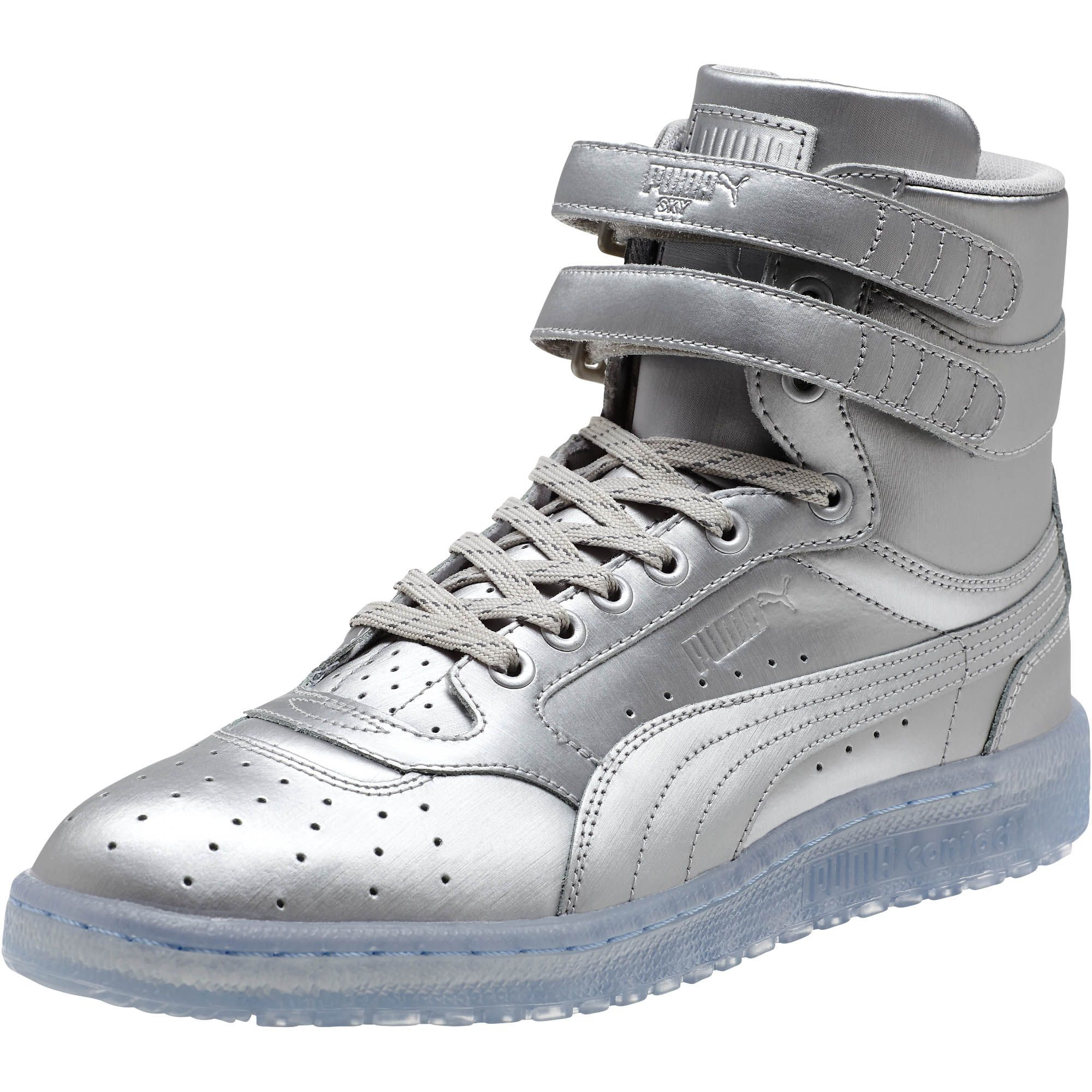 cfa2120672d8 Lyst - PUMA Sky Ii Hi Platinum Men s Sneakers in Metallic for Men