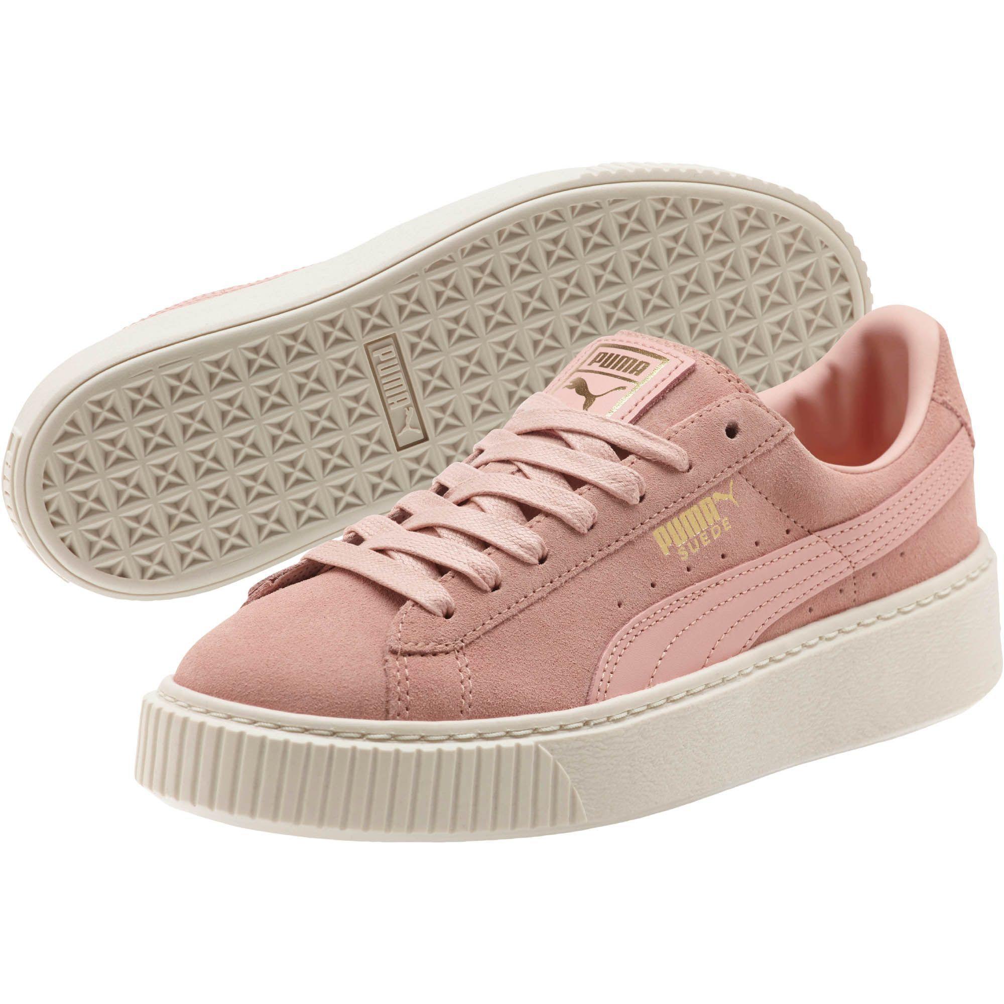 eaa9000a2c2 Lyst - PUMA Suede Platform Core Women s Sneakers in Pink