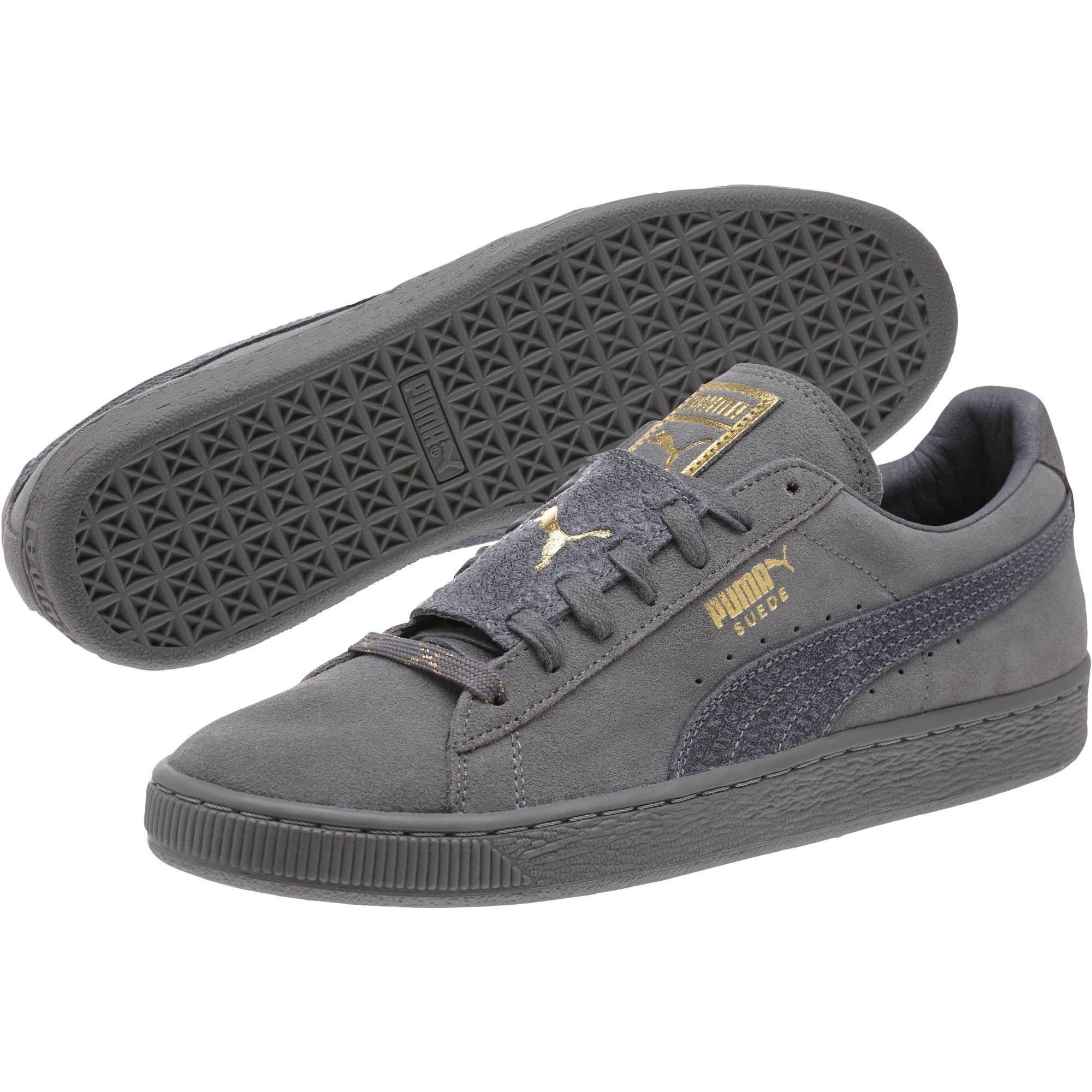 Lyst - PUMA Suede Classic Epic Snake Gold Men s Sneakers in Gray for Men 307c4c997