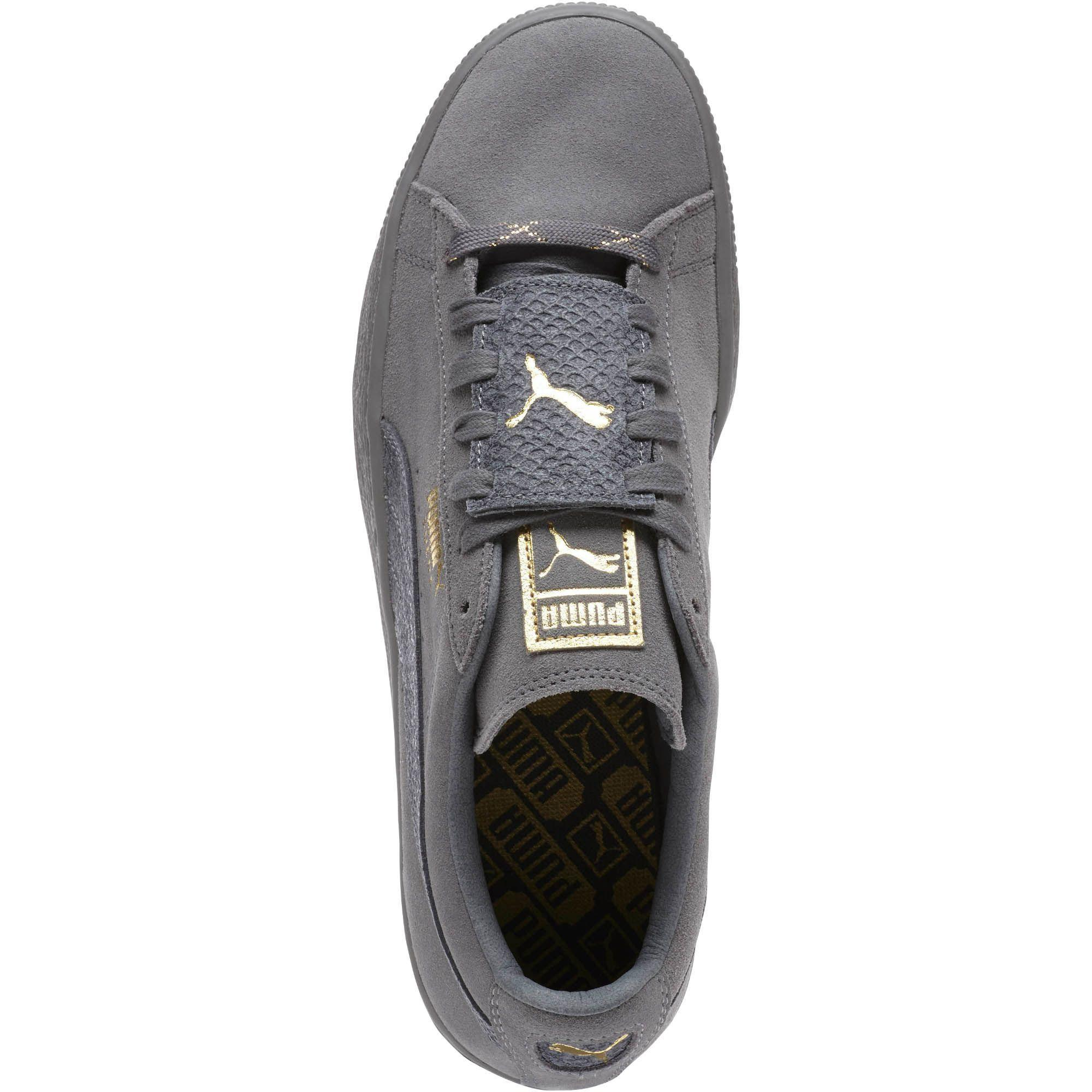 55739a26f1f8e6 Lyst - PUMA Suede Classic Epic Snake Gold Men s Sneakers in Gray for Men