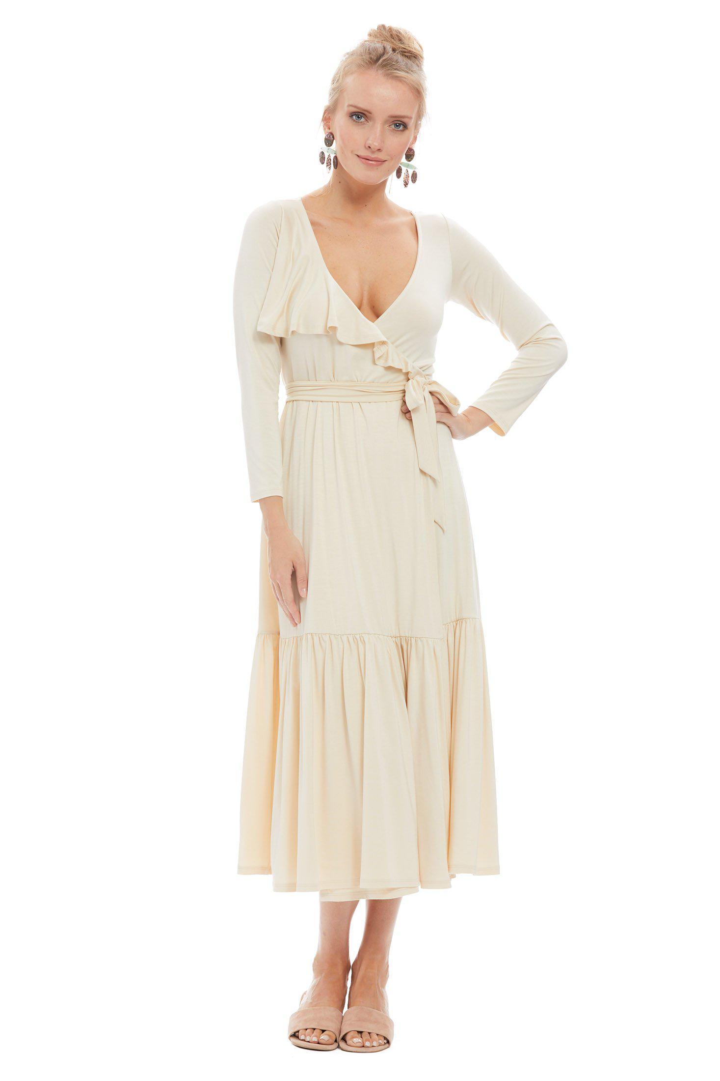 Rachel In Natural Nadine Lyst Wrap Pally Dress Cream fgY7b6yv