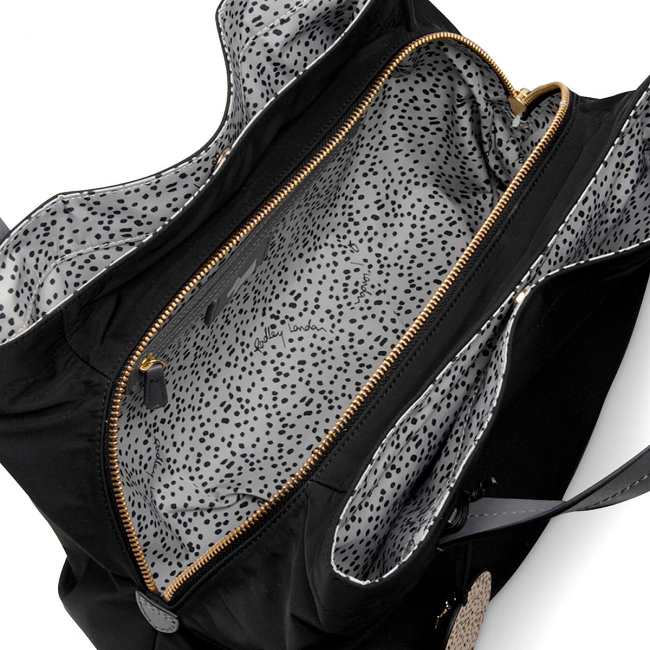 Radley Petersham Medium Multi-compartment Grab Bag in Black - Lyst 12e35e0d88d85