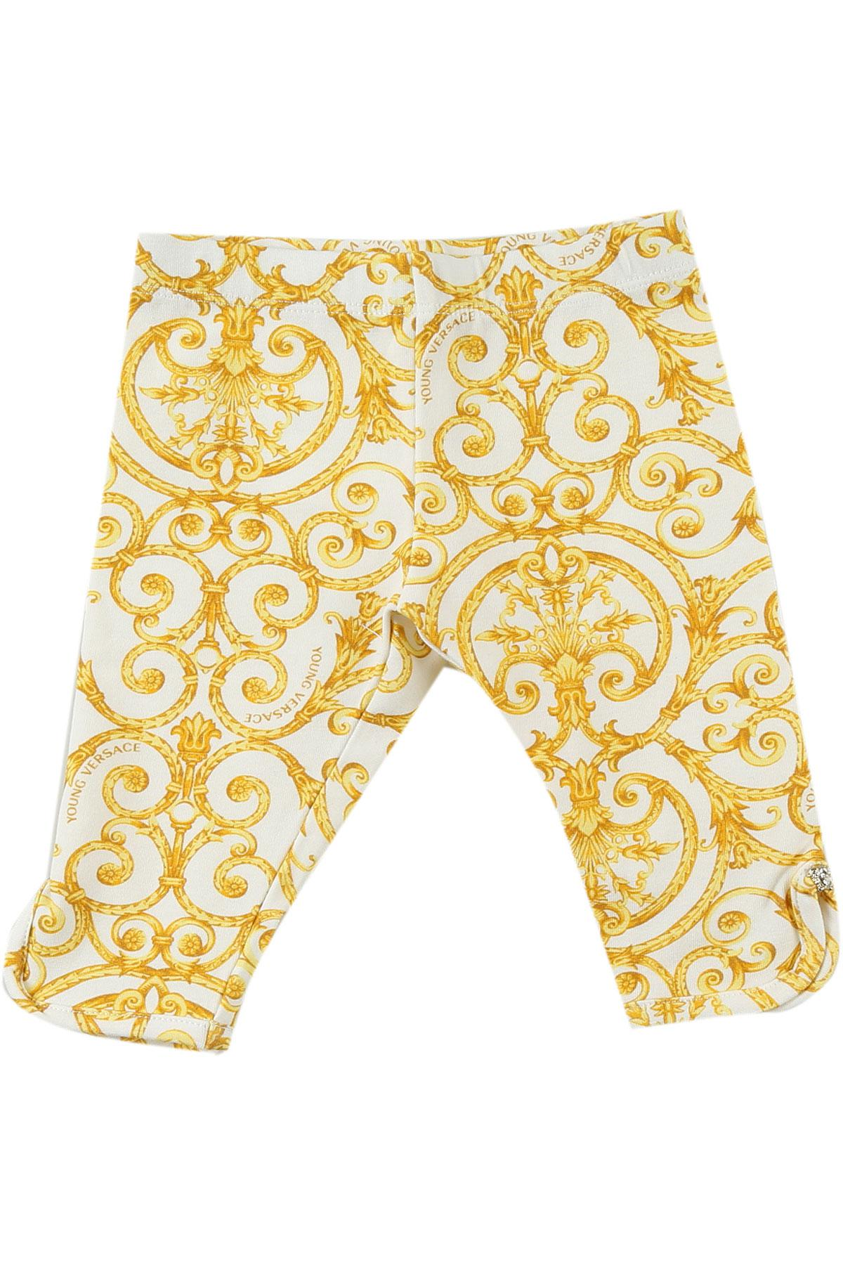 a5ba73abb81e Lyst - Versace Baby Pants For Girls On Sale in White