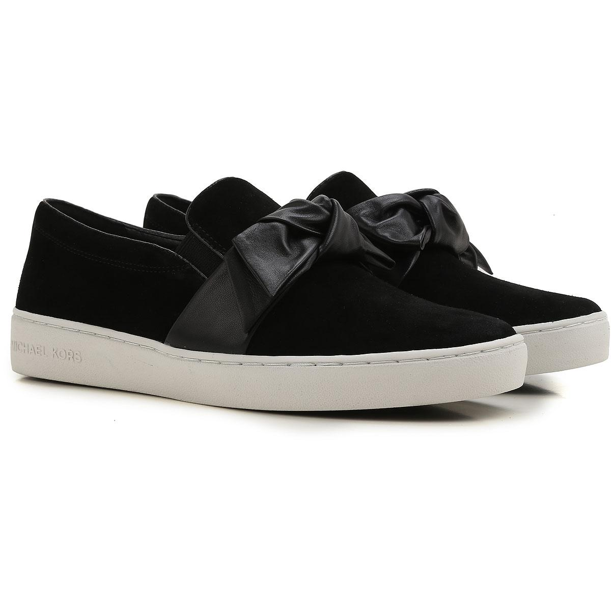 3d03e42eb075 Michael Kors - Black Slip On Sneakers For Women On Sale In Outlet - Lyst