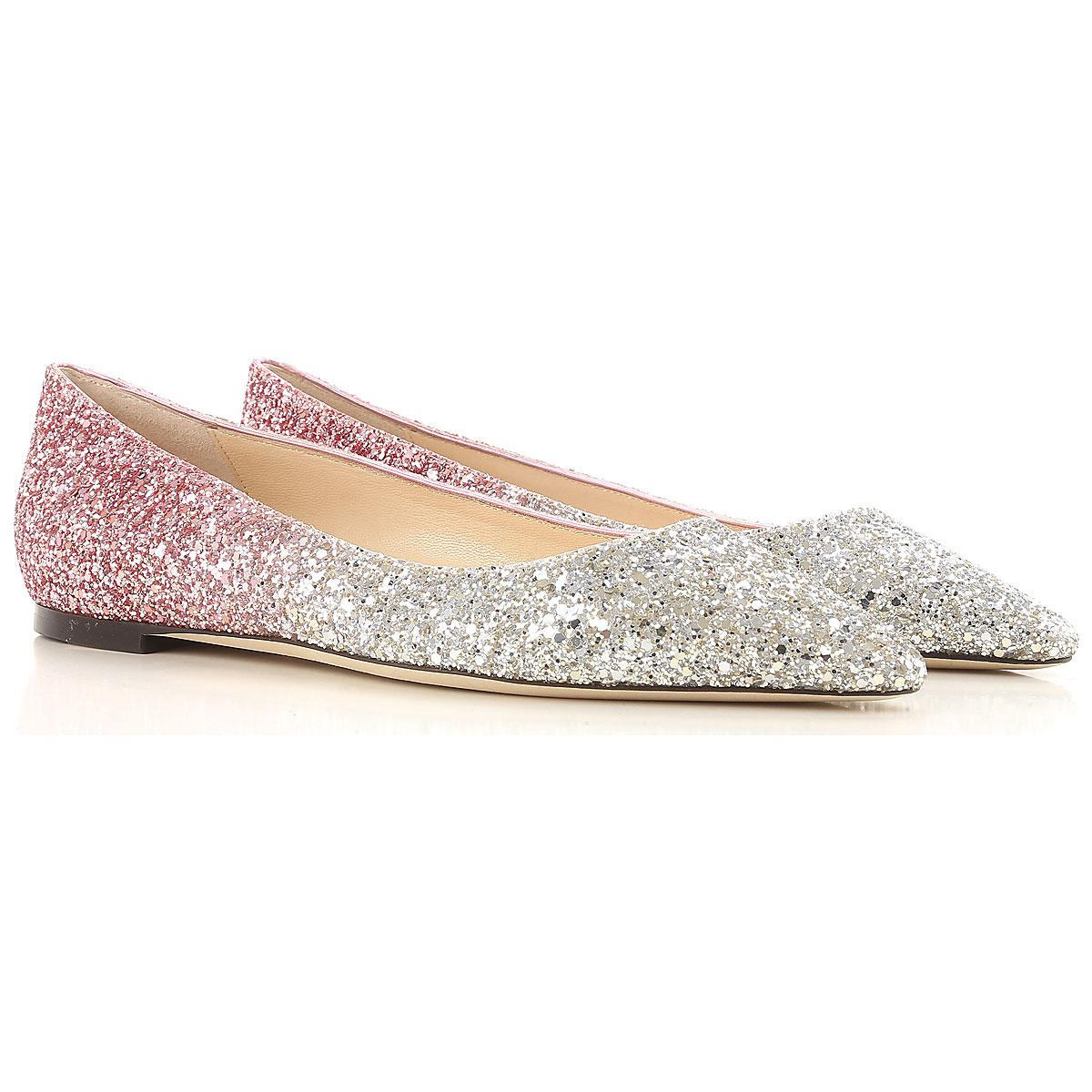 bf7b2ae9de8 Lyst - Jimmy Choo Ballet Flats Ballerina Shoes For Women On Sale in Pink