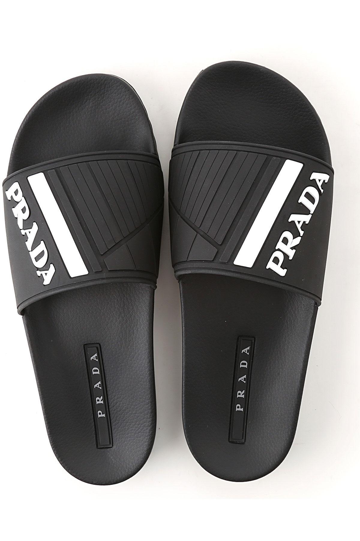 147e644ba Lyst - Prada Sandals For Men On Sale in Black for Men