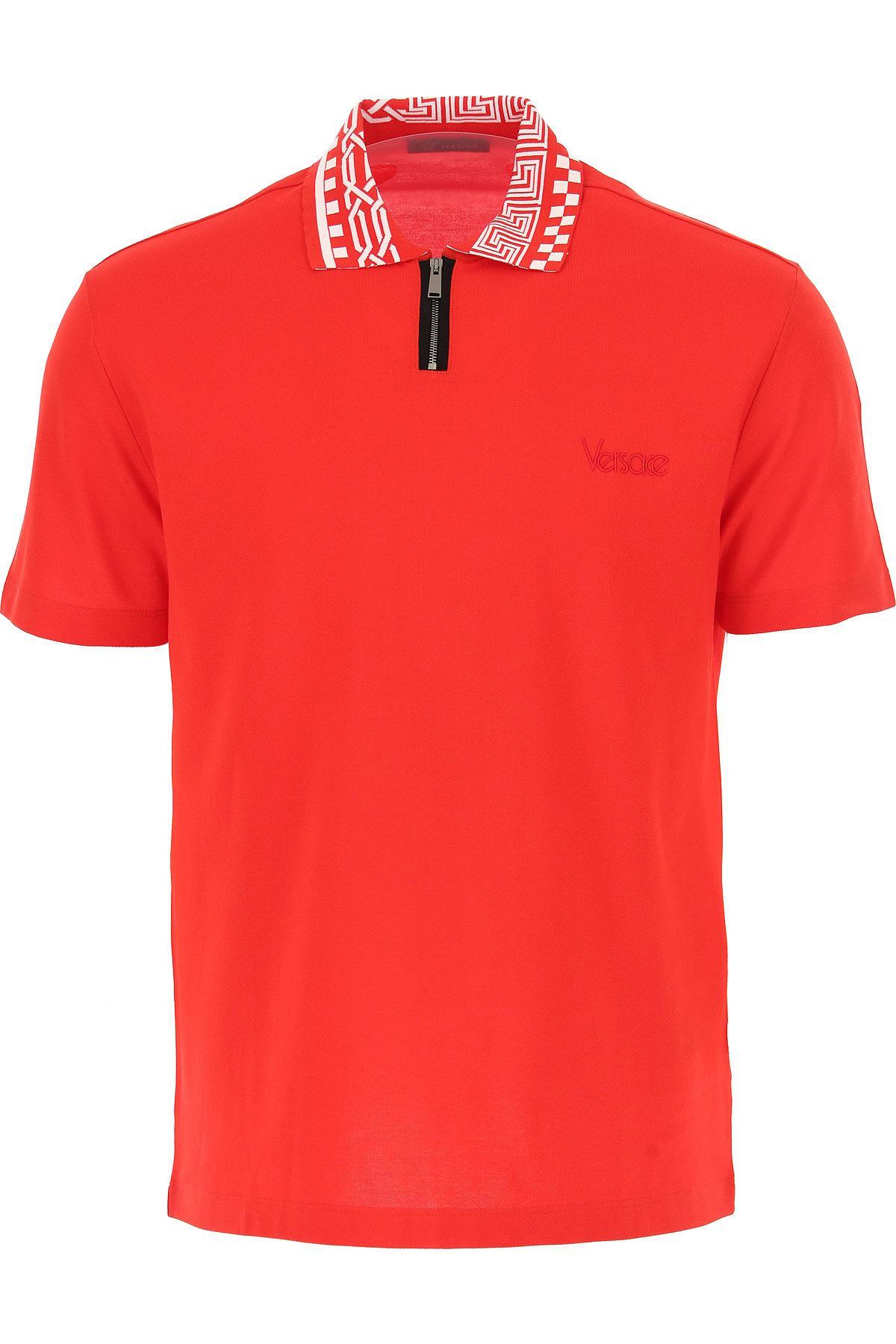 Versace - Red Polo Homme Pas cher en Soldes for Men - Lyst. Afficher en  plein écran c7474a19fdc
