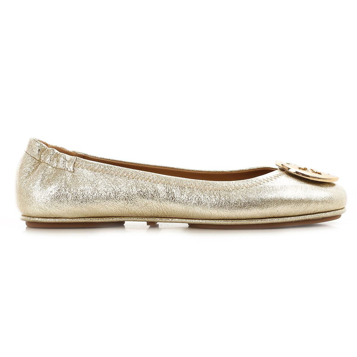 85aedf1e573c Tory Burch - Metallic Ballet Flats Ballerina Shoes For Women - Lyst. View  fullscreen
