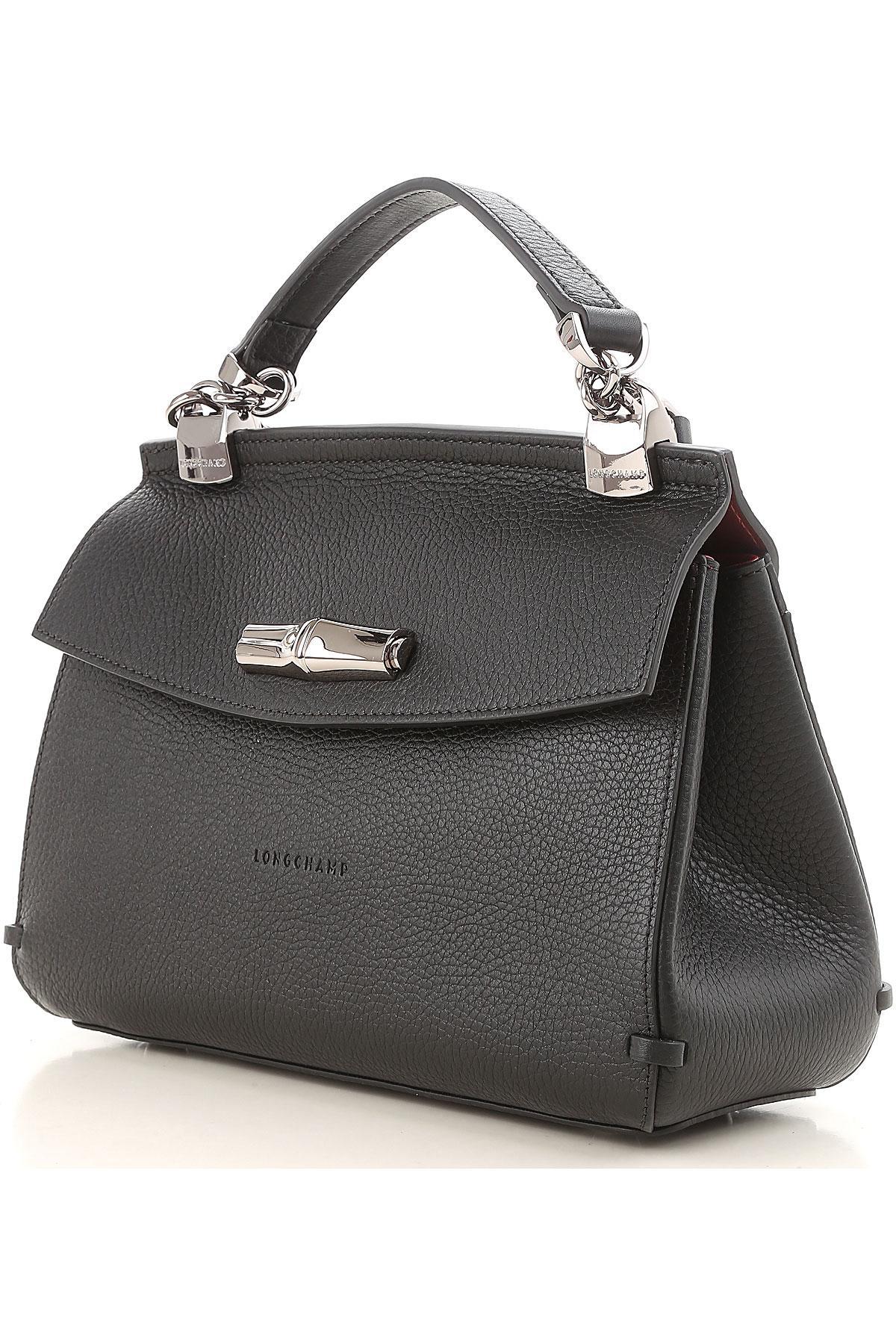 c97442fda1 Sac Bandoulière Femme Pas cher en Soldes Longchamp en coloris Noir ...