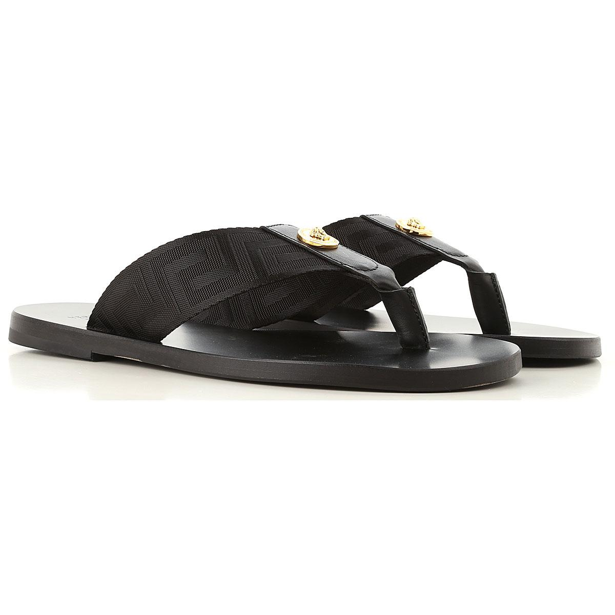 ca95a70117a6 Versace Sandals For Men in Black for Men - Lyst
