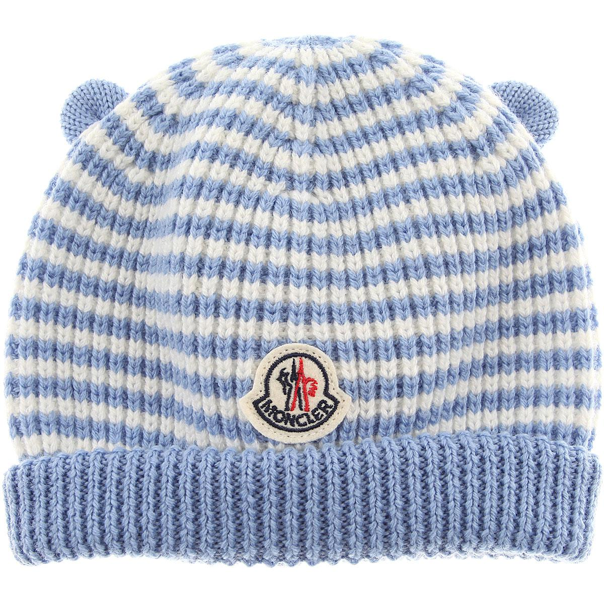 acaff502f9f1cf Moncler Baby Hats For Boys On Sale in Blue for Men - Lyst