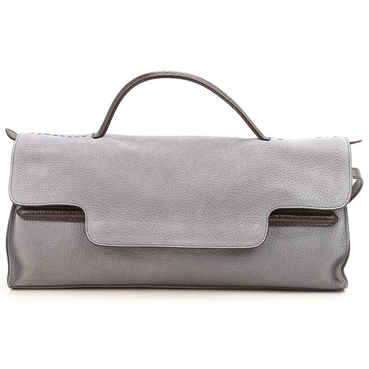 Top Handle Handbag On Sale, Nina L, Black, Leather, 2017, one size Zanellato