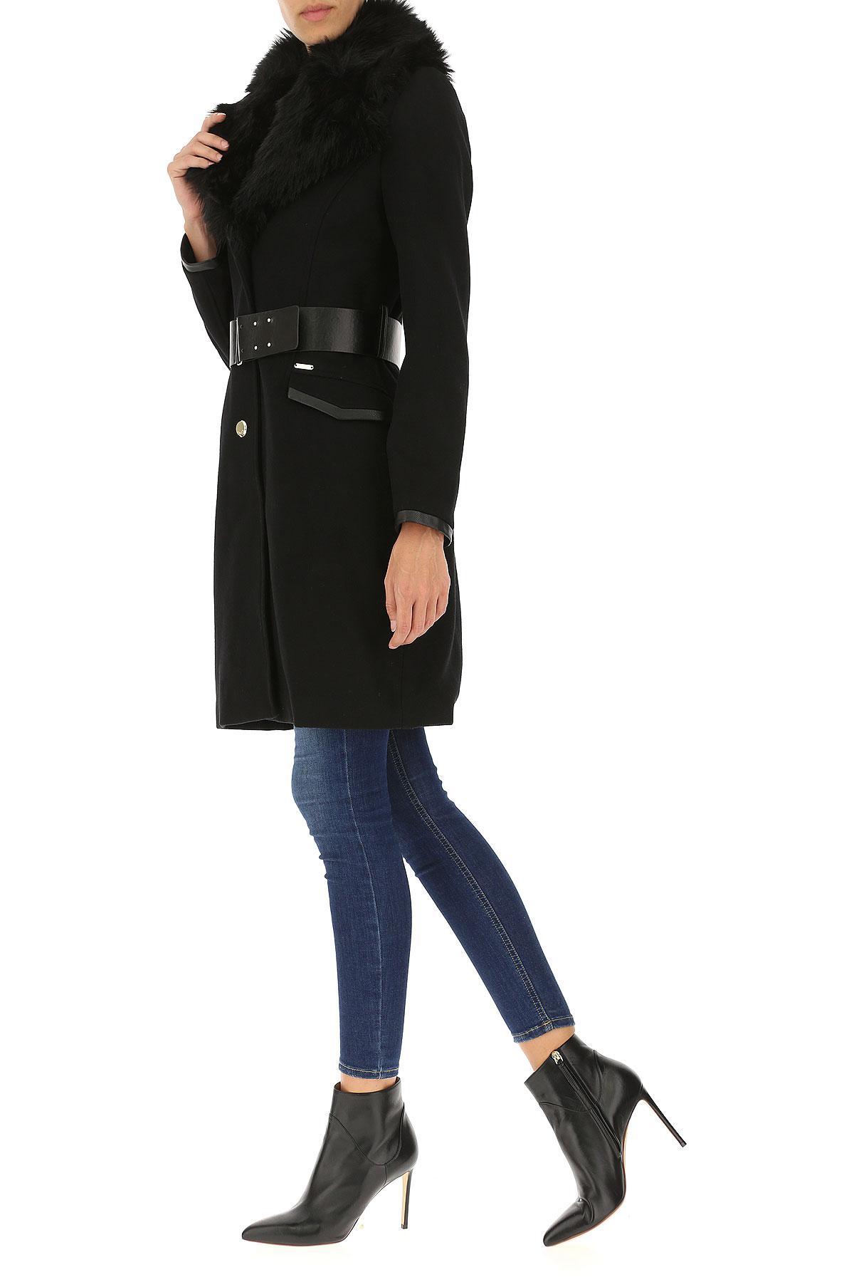 Lyst - Manteau Femme Pas cher en Soldes Guess en coloris Noir 76394c0463a