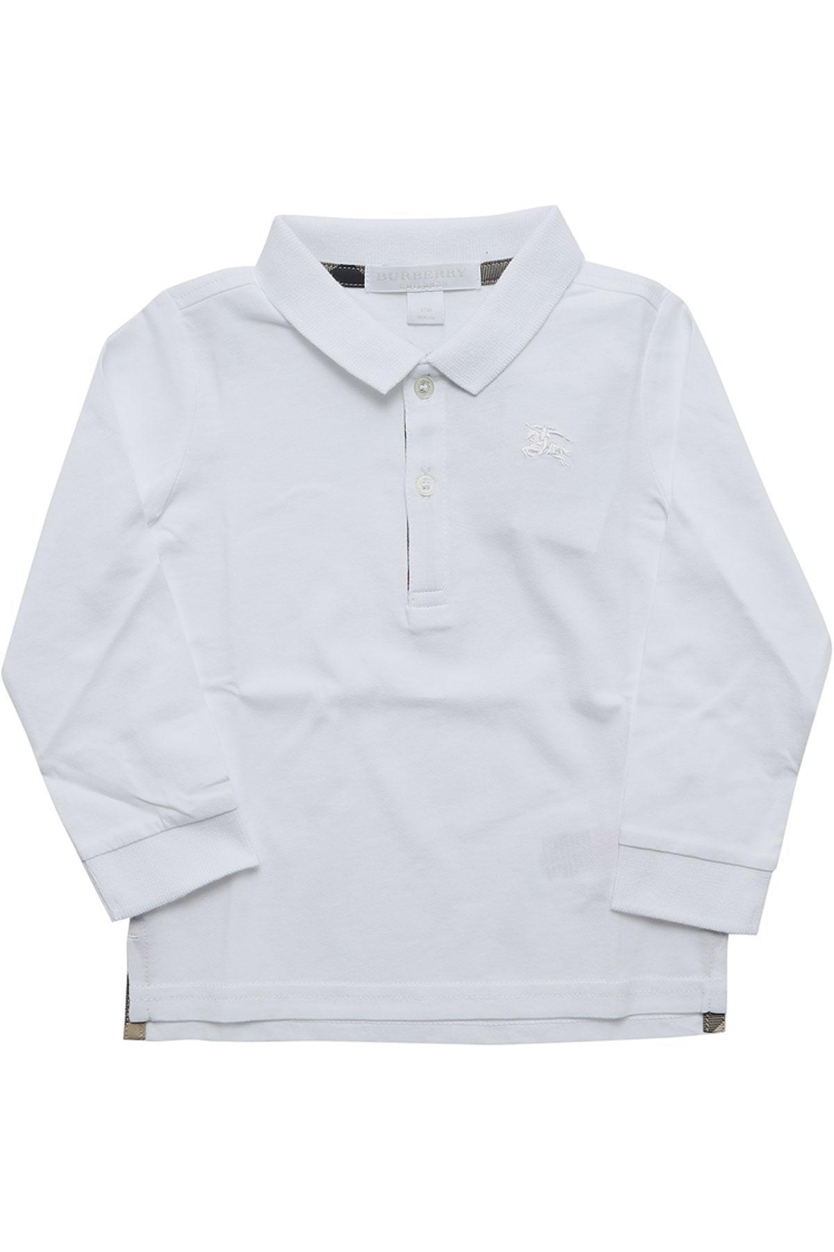 40ef2ca81c410 Polo Bébé pour Garçon Burberry pour homme en coloris Blanc - Lyst
