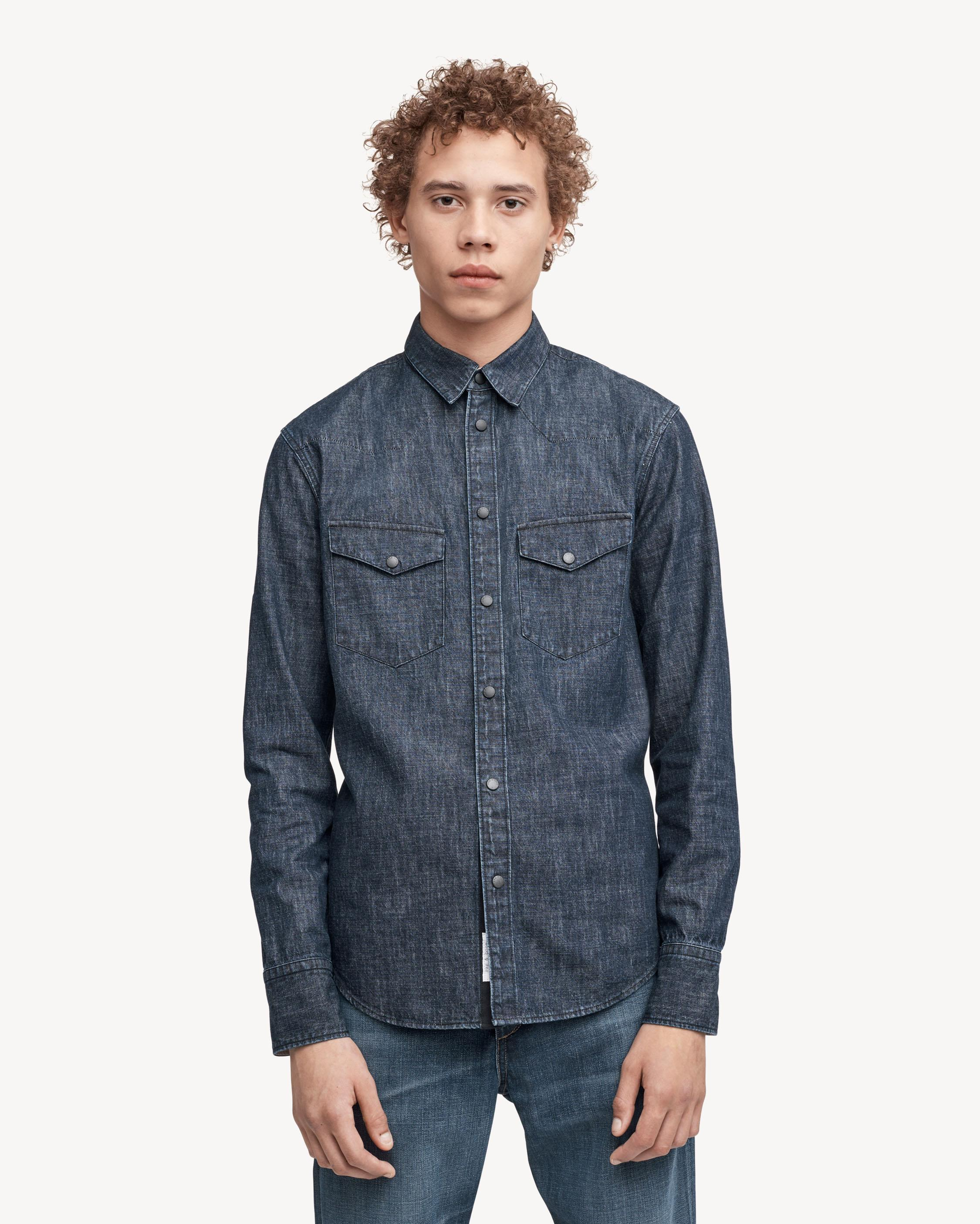 73289803 Rag & Bone Beck Shirt in Blue for Men - Lyst