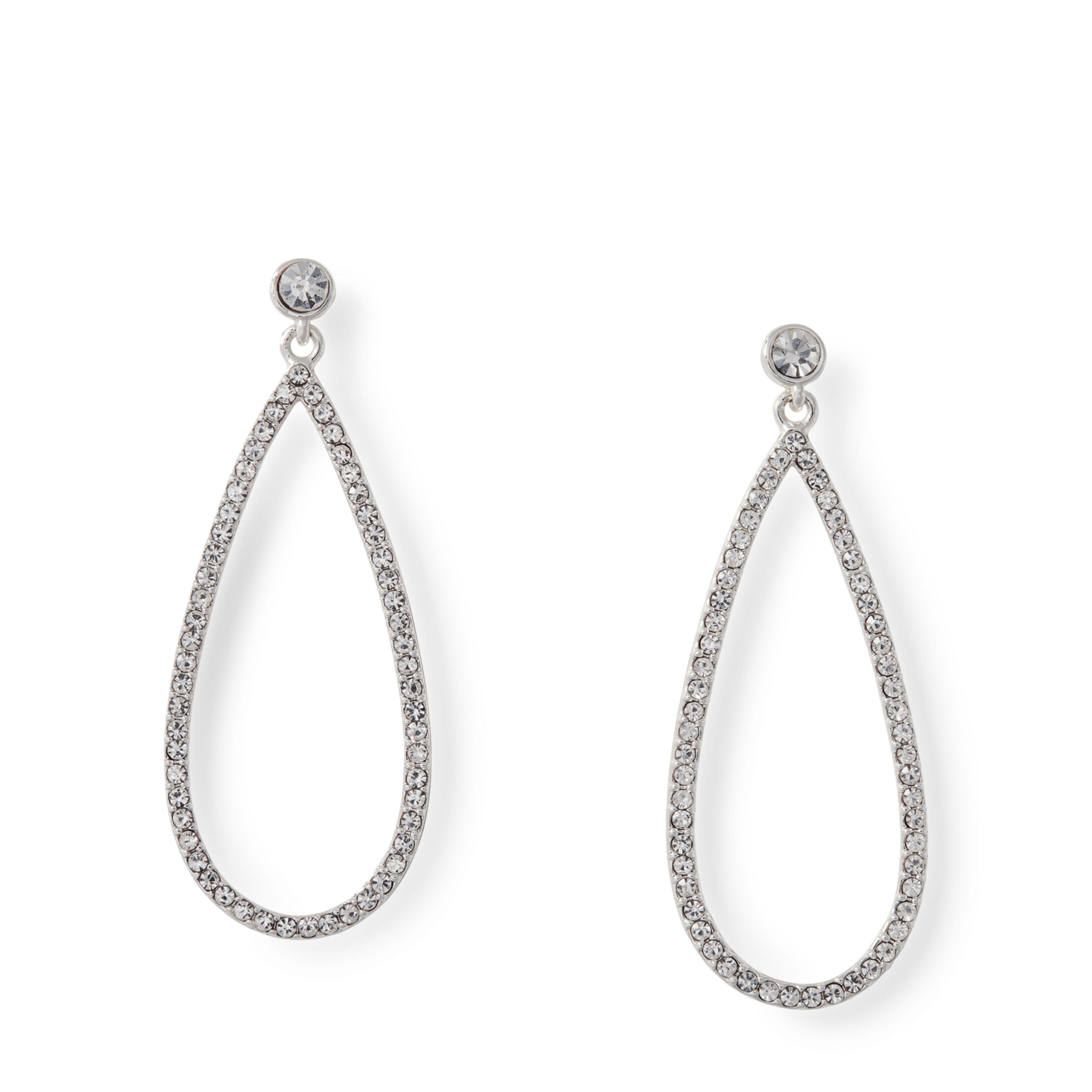 Ralph Lauren Women S Metallic Teardrop Stone Earrings