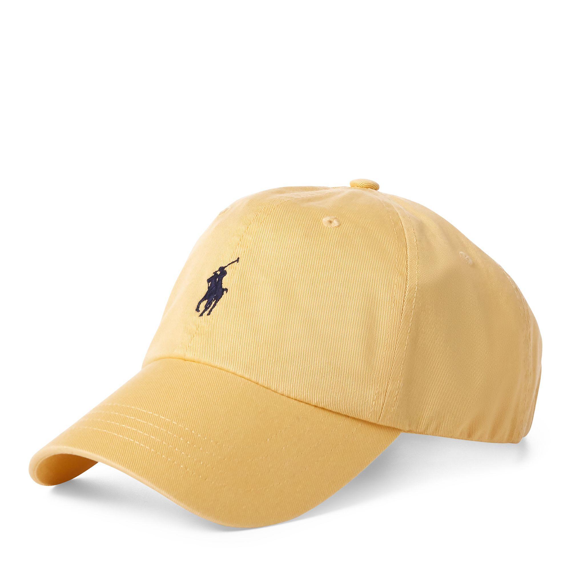 9df4bc81ea9 Polo Ralph Lauren. Casquette de baseball coton chino homme de coloris jaune