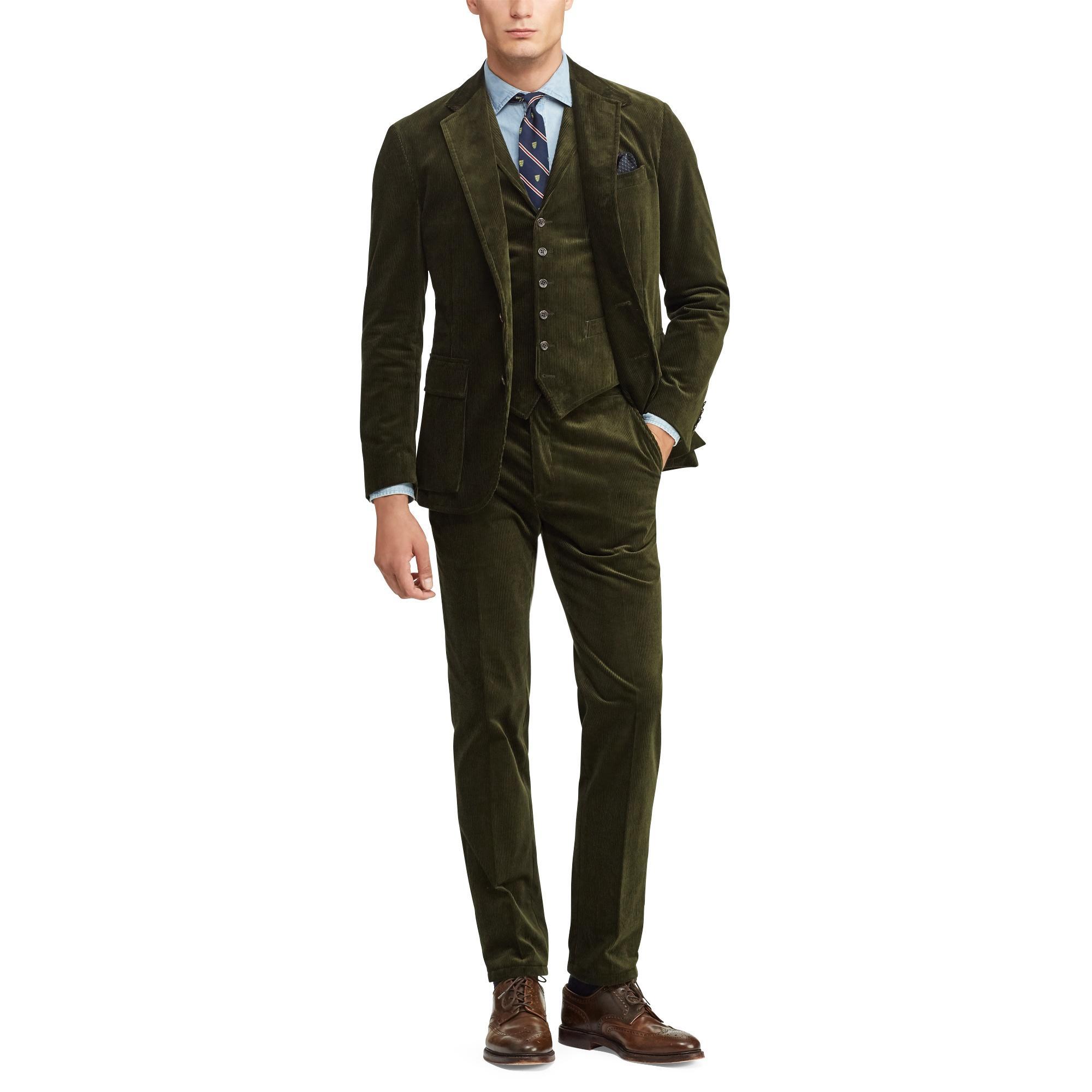 306b56ea40 Lyst - Polo Ralph Lauren Polo Corduroy Suit Trouser in Brown for Men