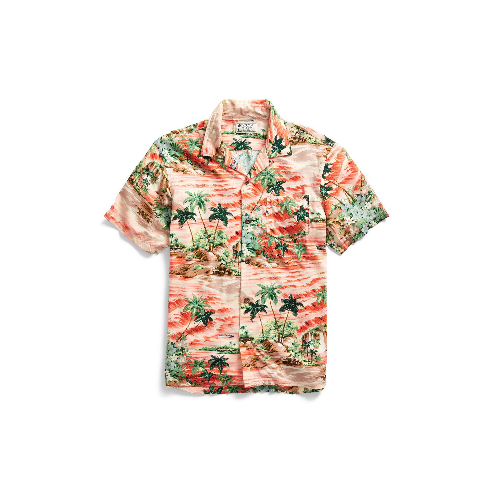 4c8b1237 RRL Hawaiian Shirt for Men - Lyst