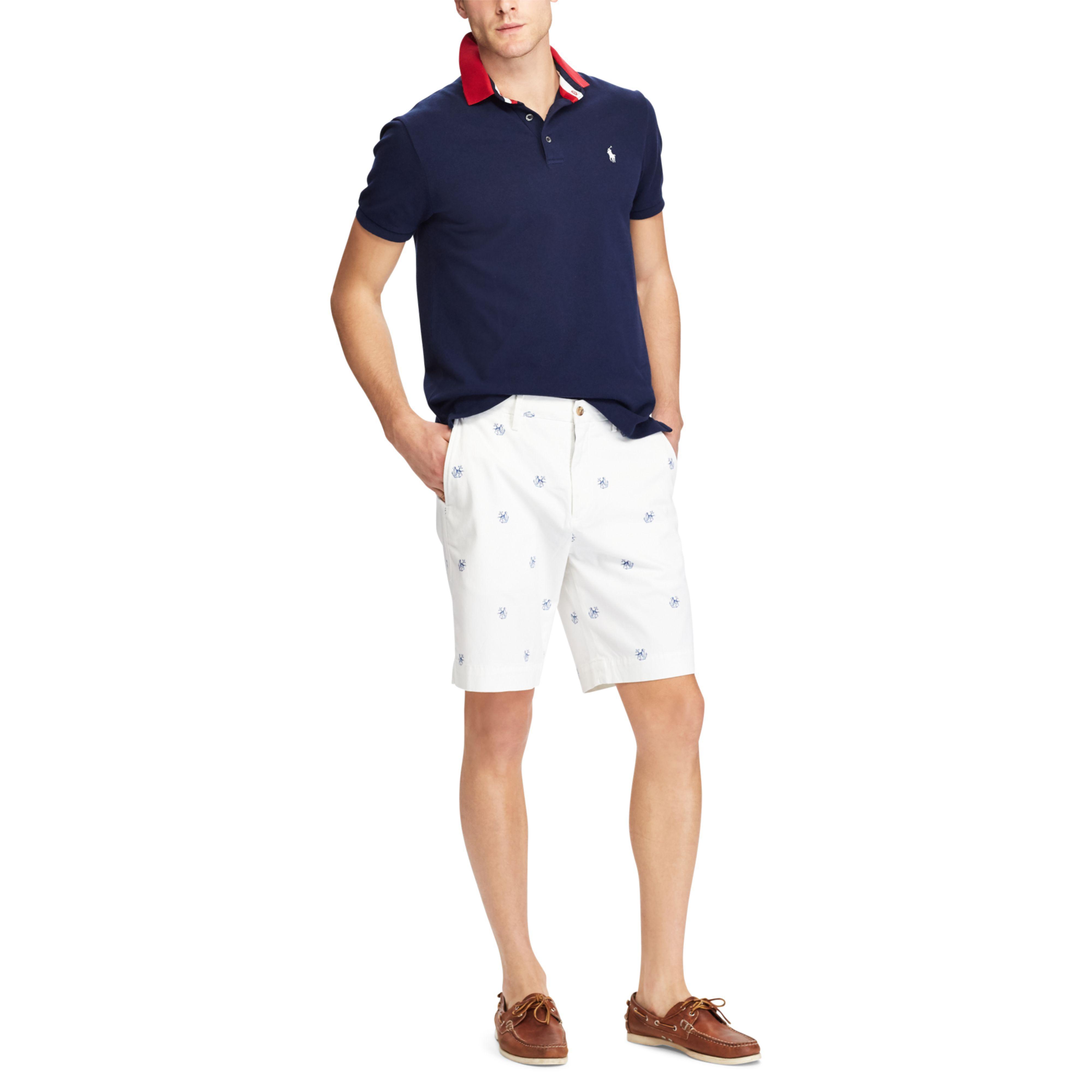 89022631647b6 ... shorts 31d77 61cf5  australia polo ralph lauren white stretch classic  fit short for men lyst. view fullscreen f760a