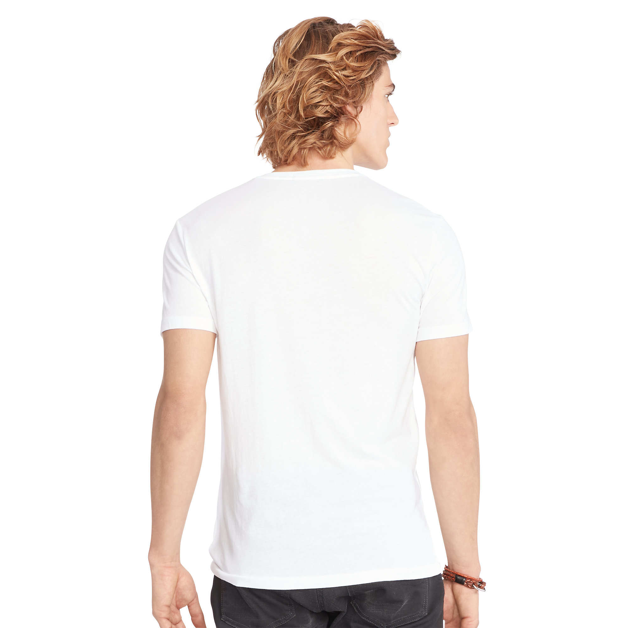 polo ralph lauren cotton jersey v neck t shirt in white for men lyst. Black Bedroom Furniture Sets. Home Design Ideas