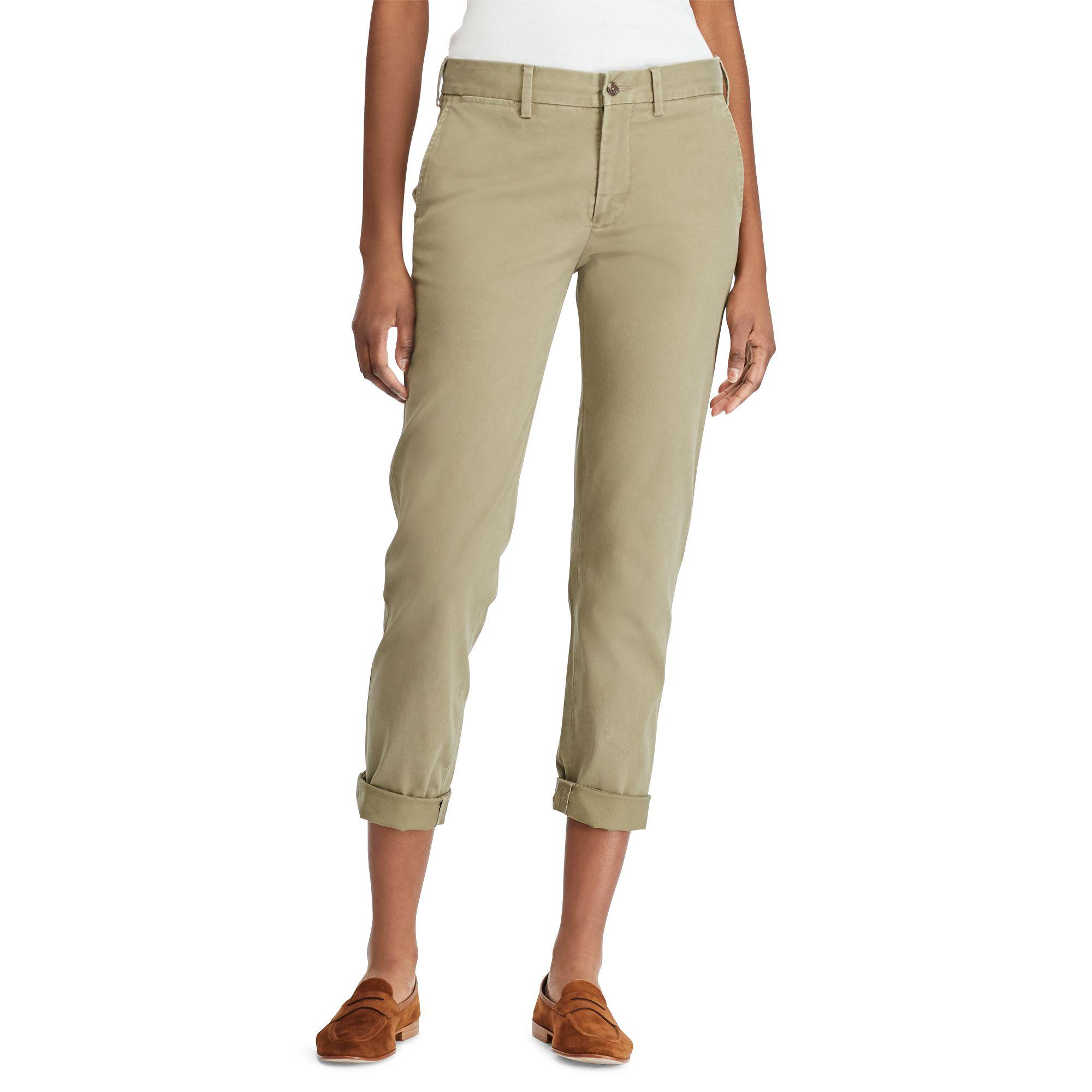 Polo Ralph Lauren Stretch Twill Cropped Pant - Lyst 1efb4ccb5a7
