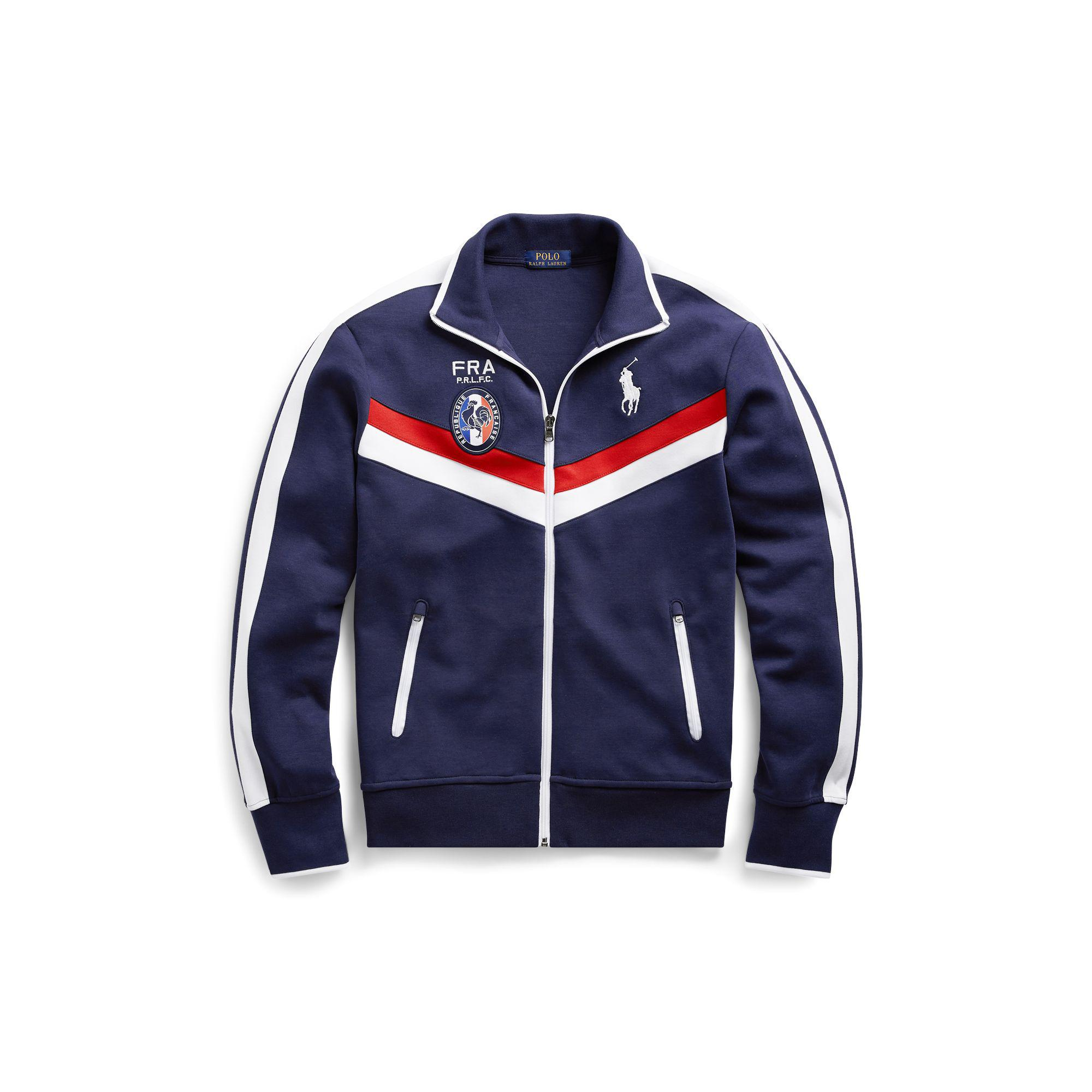 f36fd9be430 Polo Ralph Lauren France Track Jacket in Blue for Men - Lyst
