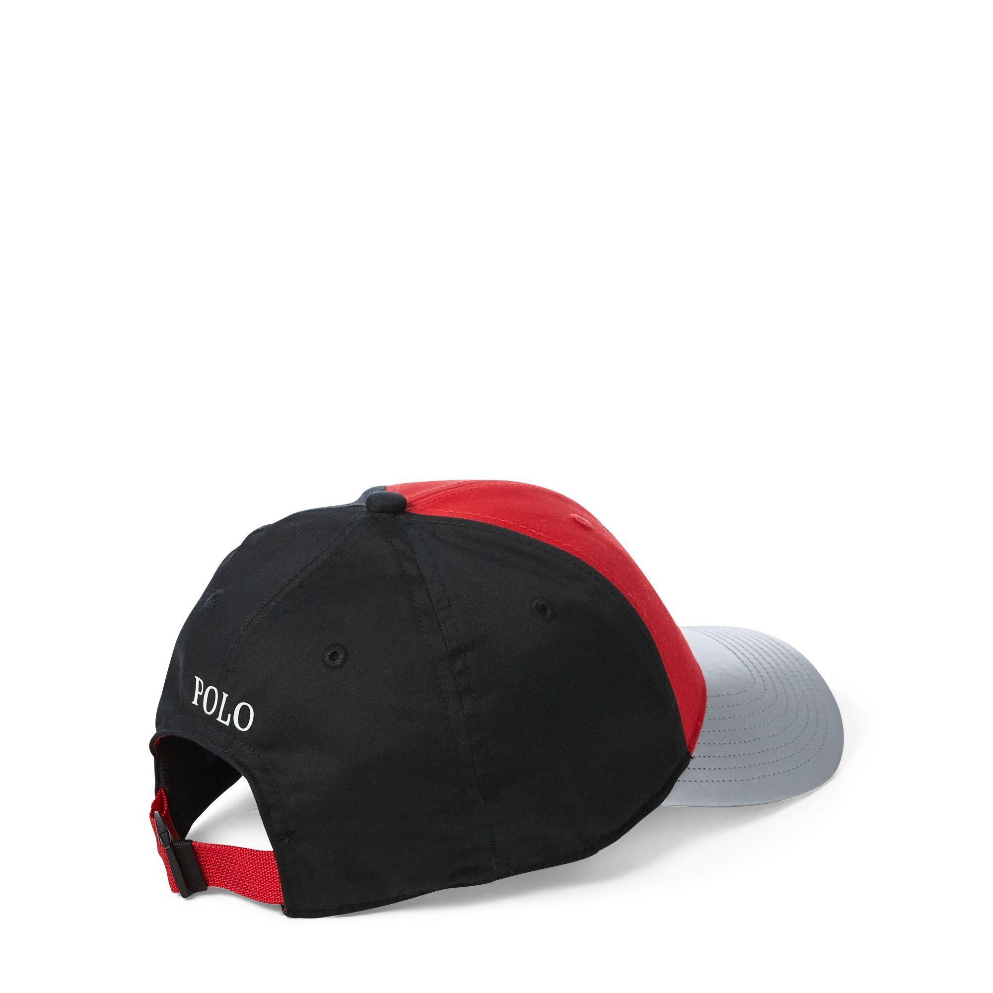 8752cee8894 Polo Ralph Lauren - Red Colour-blocked P-wing Cap for Men - Lyst. View  fullscreen
