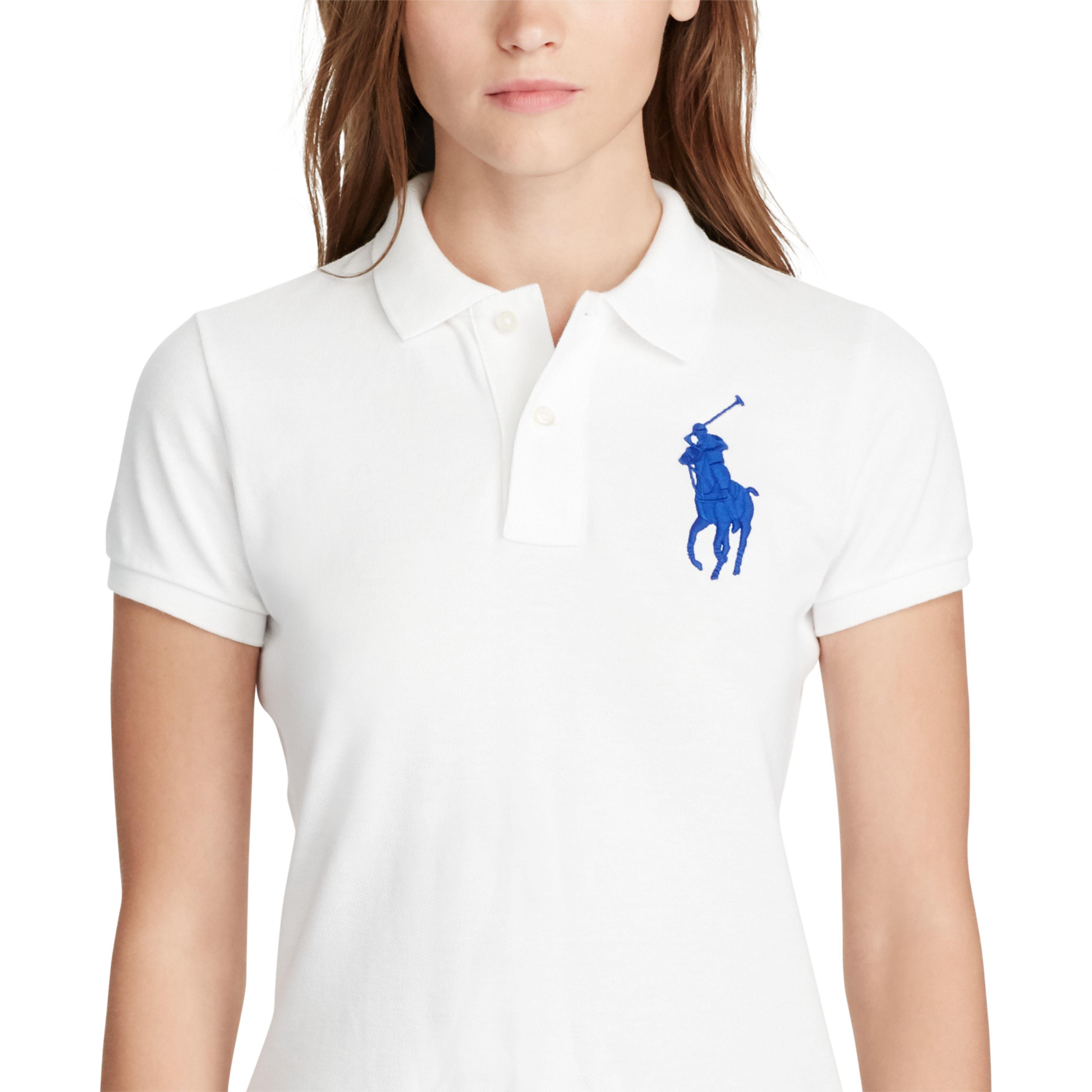 ... White Skinny Fit Big Pony Polo Shirt | Lyst. View Fullscreen