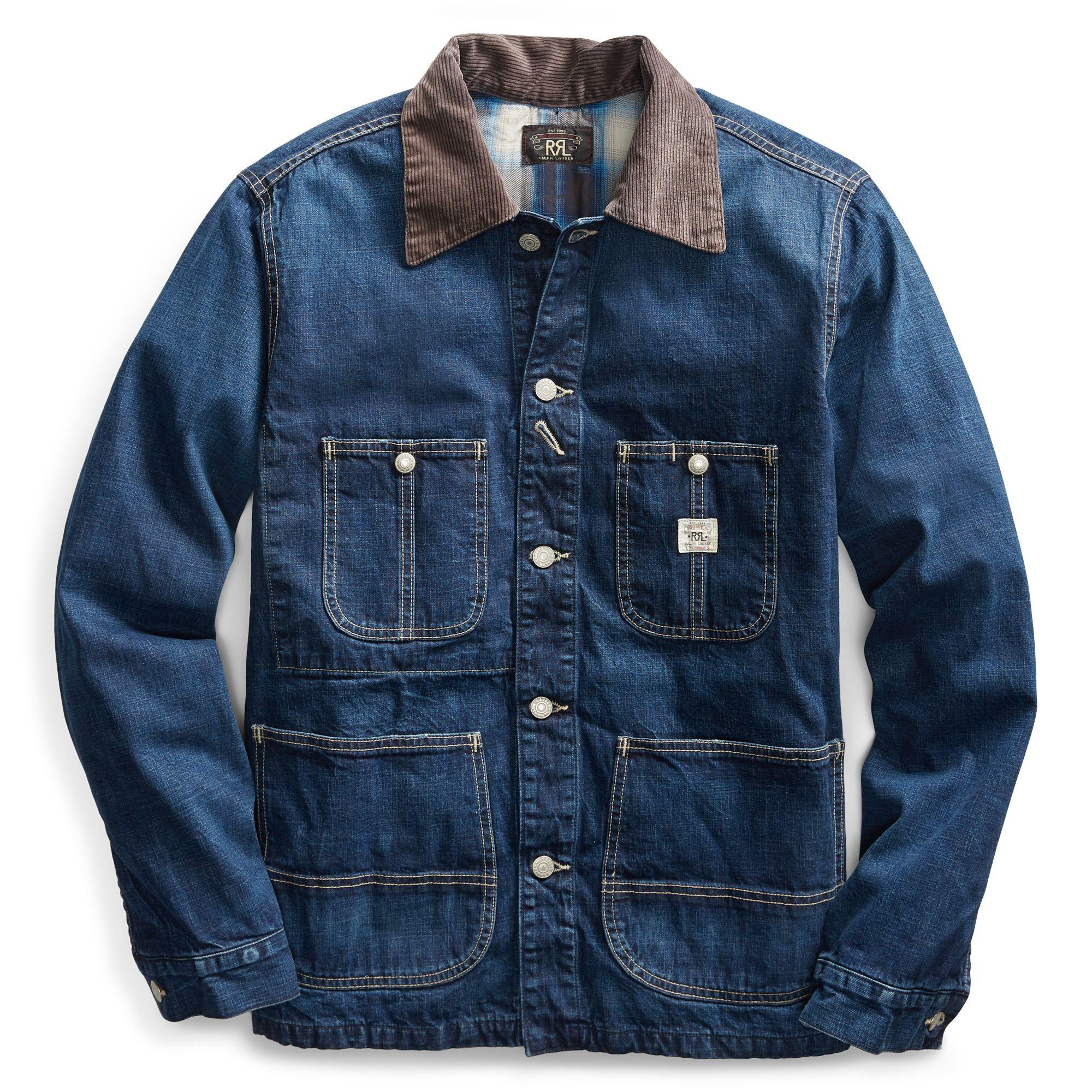 6b6957289a RRL 25th Anniversary Chore Jacket in Blue for Men - Lyst
